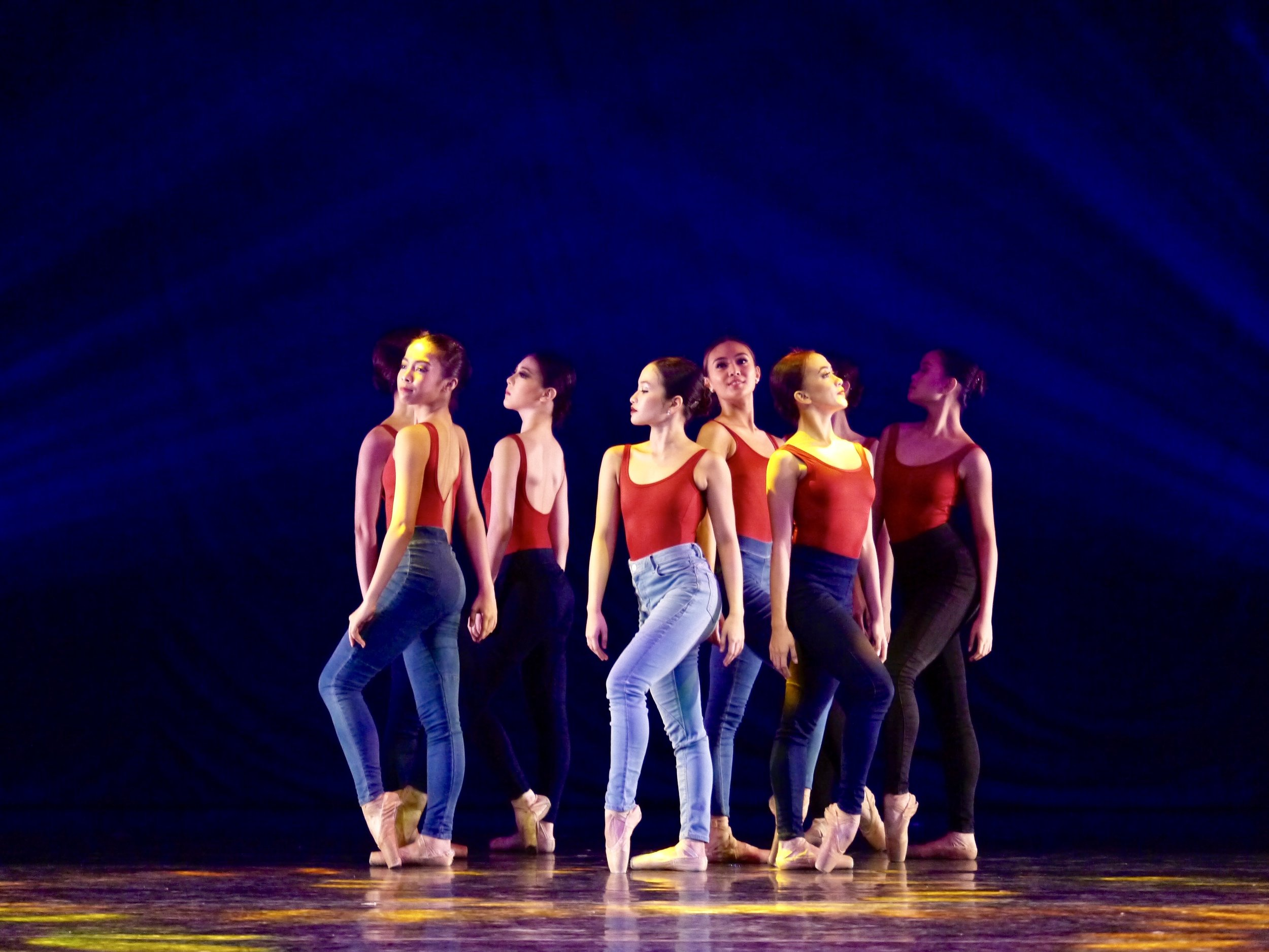 Whether contemporary or the classics, Pearl (center, in a Rey Valera Medley choreographed by Jonathan Janolo) wants to dance it all. Photo by Giselle P. Kasilag