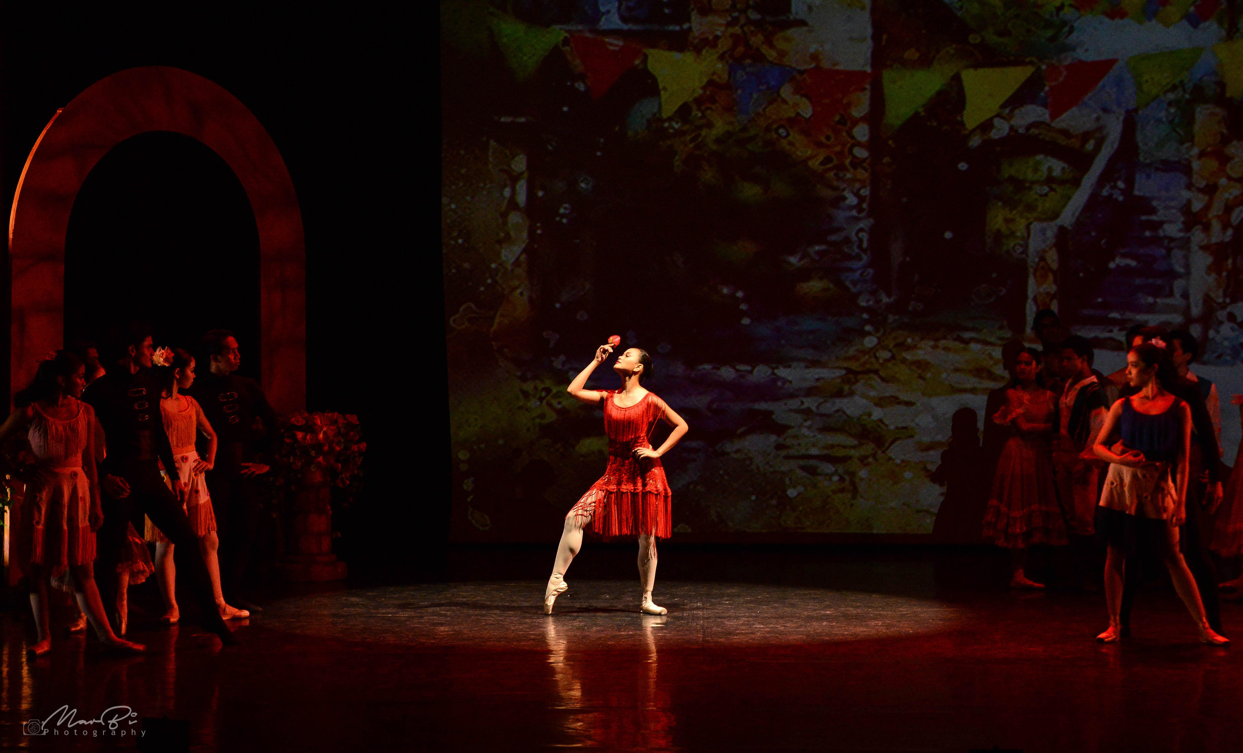 Soloist Rissa May Camaclang performed her dream role, Carmen, in Ballet Manila's season-opening production,  Iconic . Photo by Mark Sumaylo