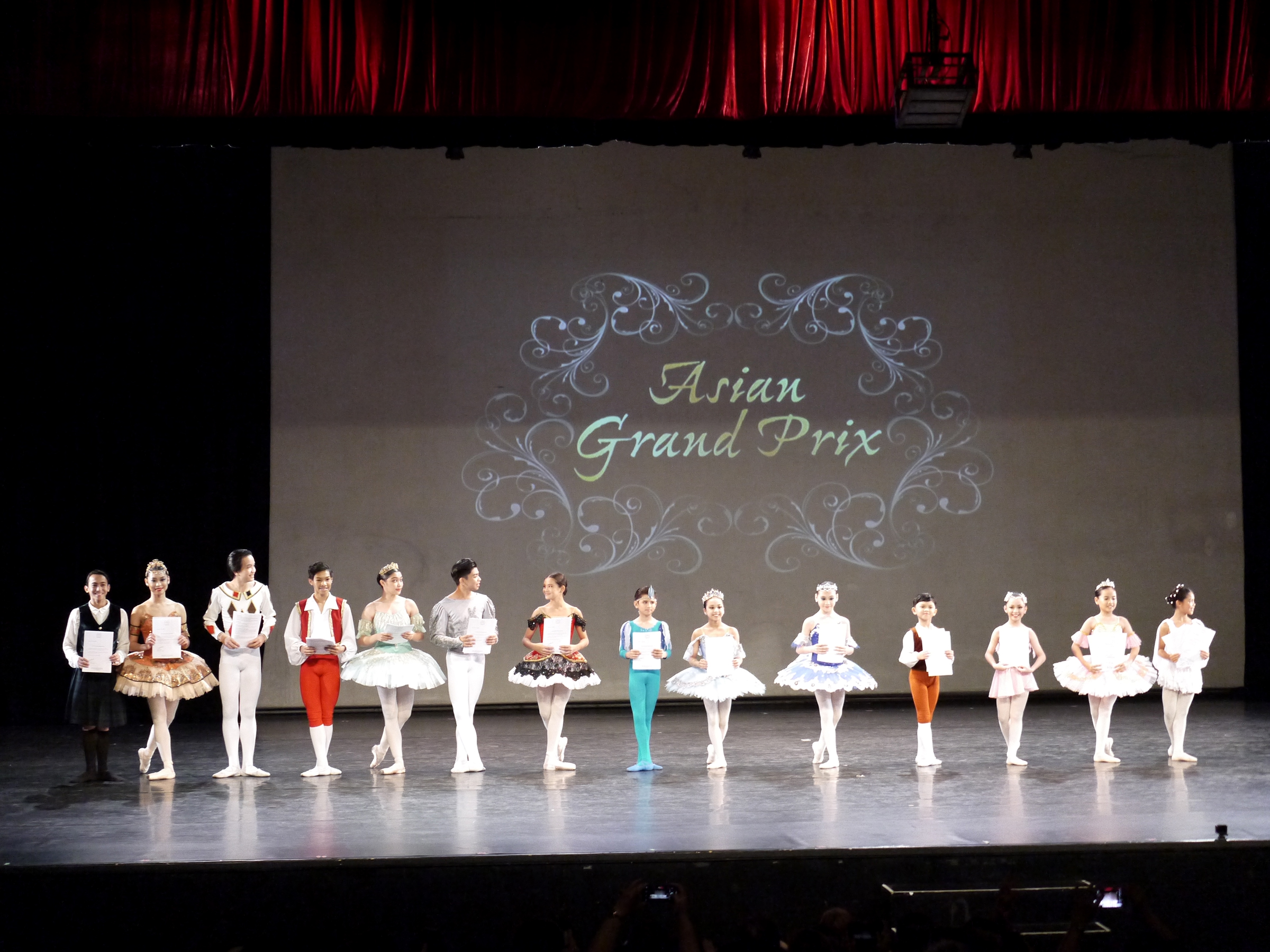 The 14 dancers who have been invited to participate in the Asian Grand Prix in Hong Kong are: (from left) Eduardson Evangelio, Danielle Kleiner, Niccolo Laforteza, Danier Laganzo, Monique Valera, Vin Joshua Saagundo, Anna Isabelle Huang, Juan Angelo De Leon, Renee Antonie Aguilar, AJ Reburiano, Vin Lance Saagundo, Anna Maria Ponferrada, Reese Theanna Mateo and Erine Theone King. Photo by Giselle P. Kasilag