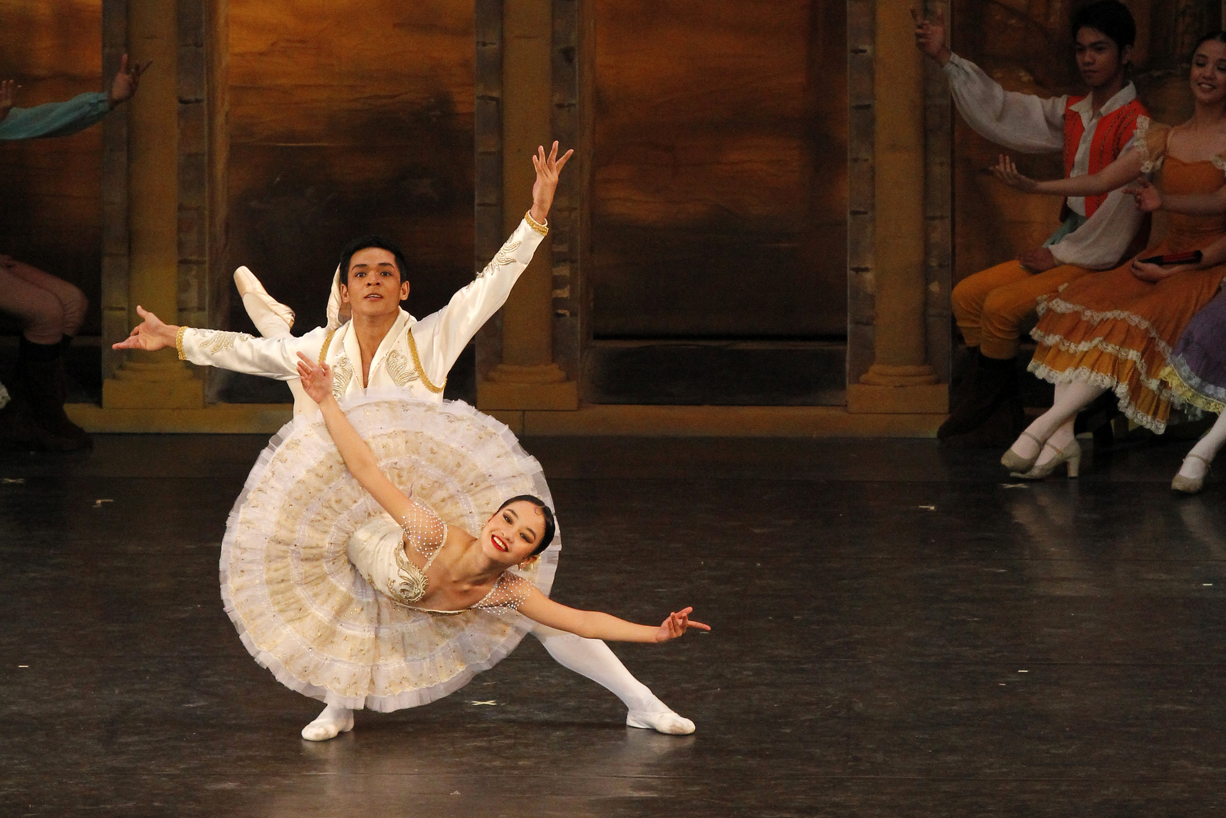 Pia Dames is known for her fearlessness on stage. In this photo, she performs the fiery Kitri in  Don Quixote  with principal dancer      Gerardo Francisco      as her Basilio. Photo by Ocs Alvarez