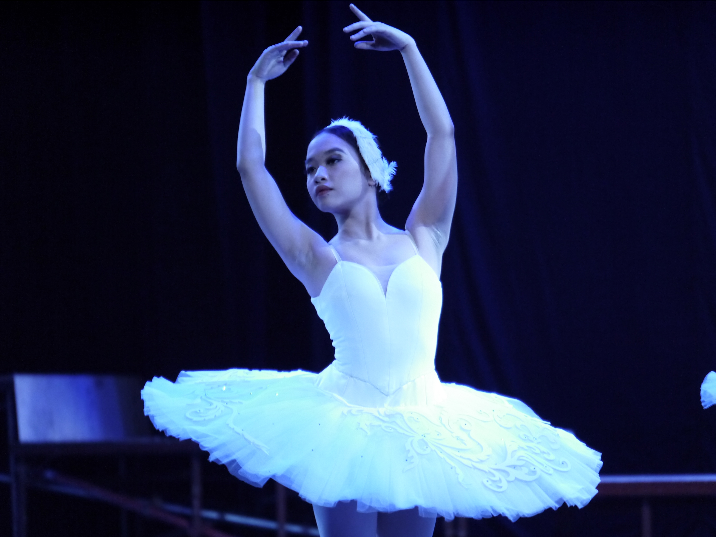 Pia dances as a Cygnet in  Swan Lake . Photo by Giselle P. Kasilag