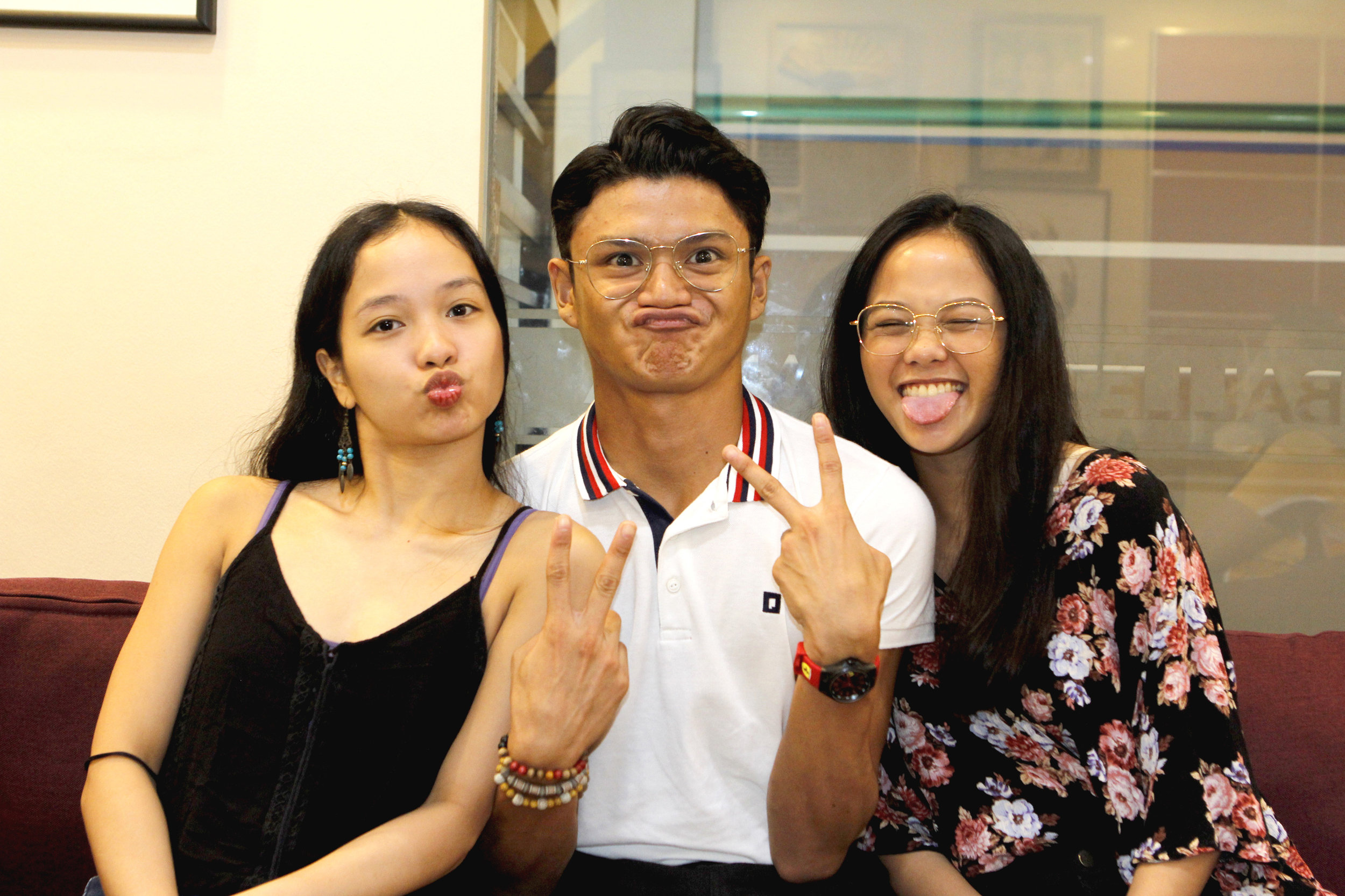 They're serious about ballet but Pearl, Joshua and Rissa May show they have a wacky side too. Photo by Jimmy Villanueva