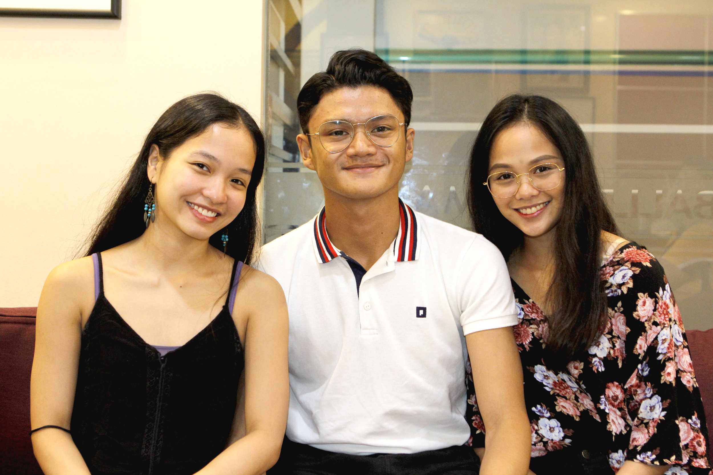 Ballet Manila's newly promoted soloists Jessica Pearl Dames, Joshua Enciso and Rissa May Camaclang are raring for the company's next performance season to begin. Photo by Jimmy Villanueva