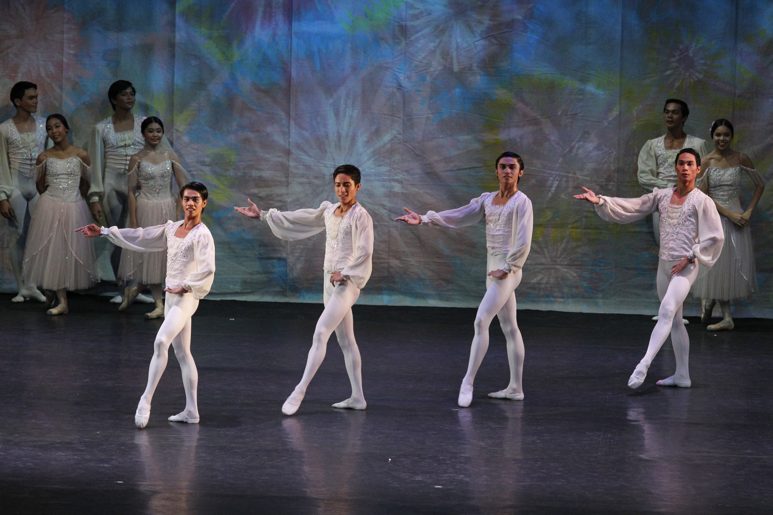 Robert (second from right) realized he was already enjoying ballet when he performed in a recital. He is seen here in  Just Dance,  Ballet Manila's summer workshop recital in 2013. Photo by Ocs Alvarez