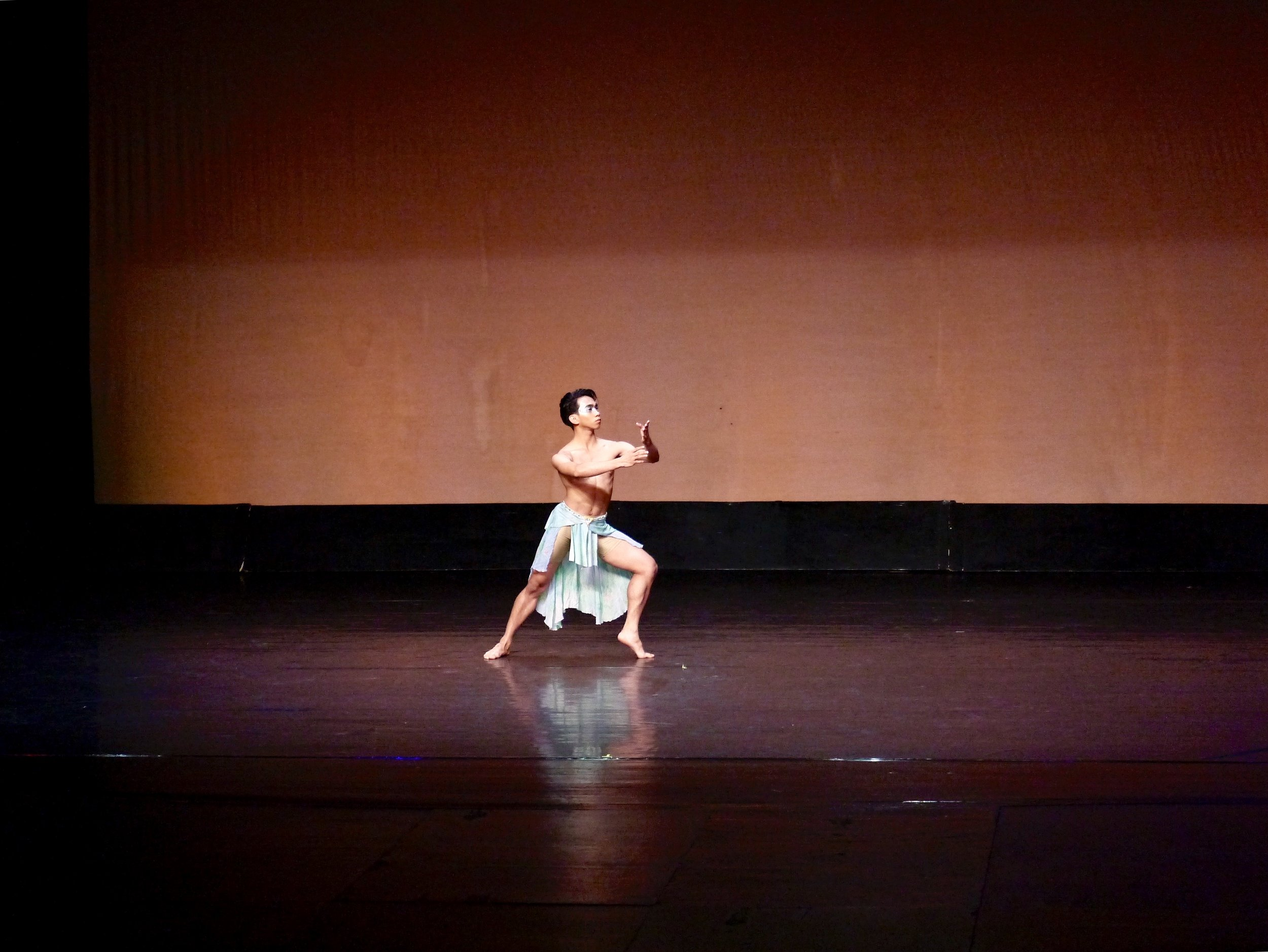 Emmerson dances his contemporary piece in last November's CCP Ballet Competition. Photo by Giselle P. Kasilag