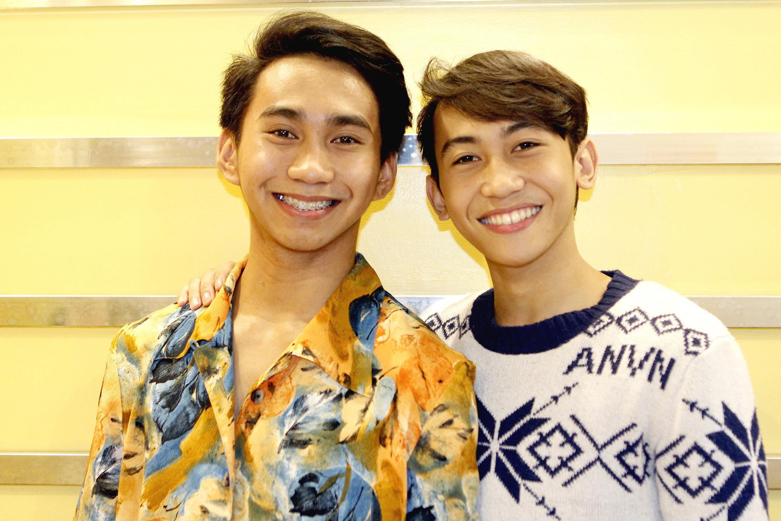 Brothers Emmerson and Eduardson Evangelio, both Ballet Manila trainees, are thankful for the many opportunities that dance has given them. Photo by Jimmy Villanueva