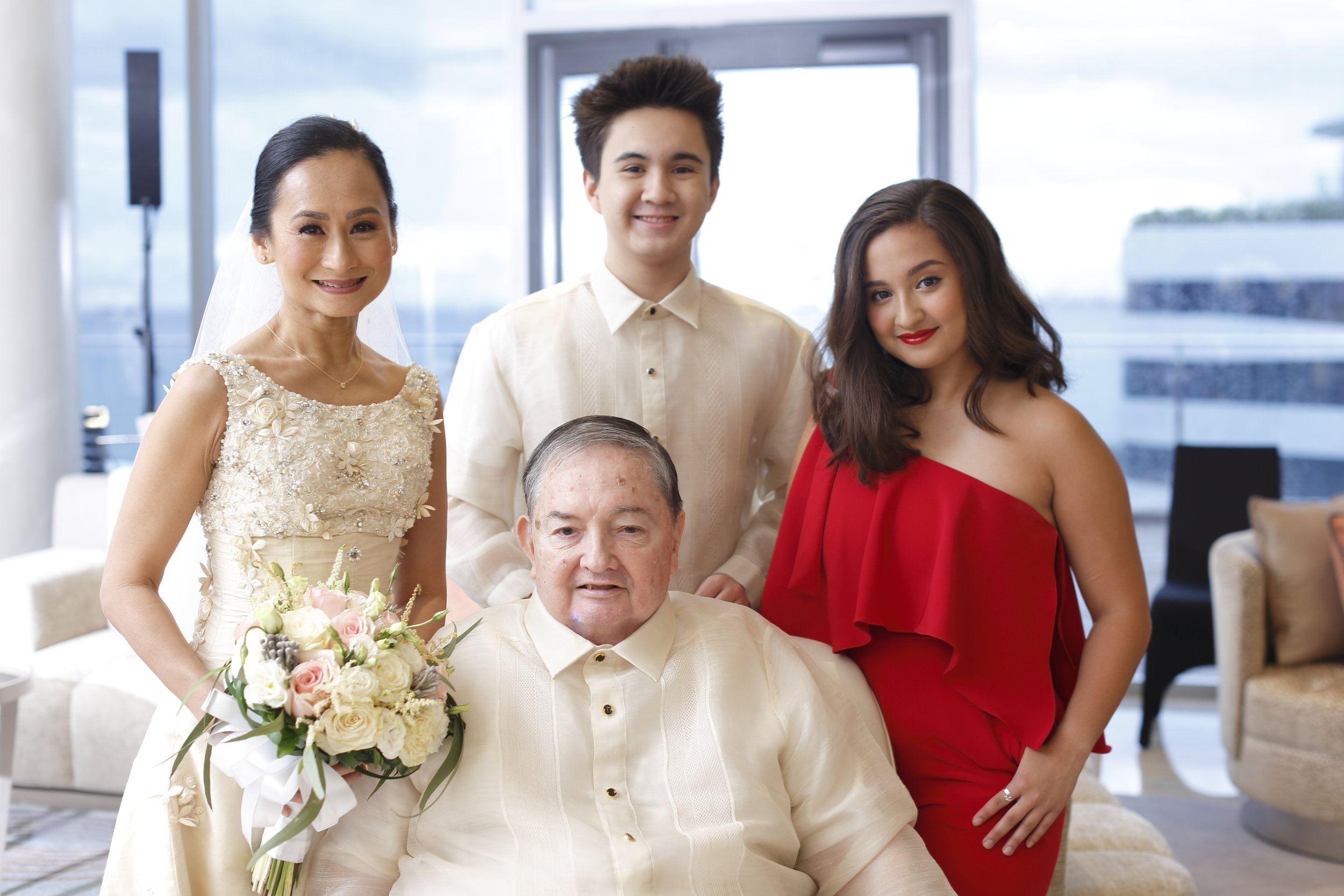Missy and Mac join their parents Fred and Lisa Elizalde in celebrating their 20th wedding anniversary in 2017.