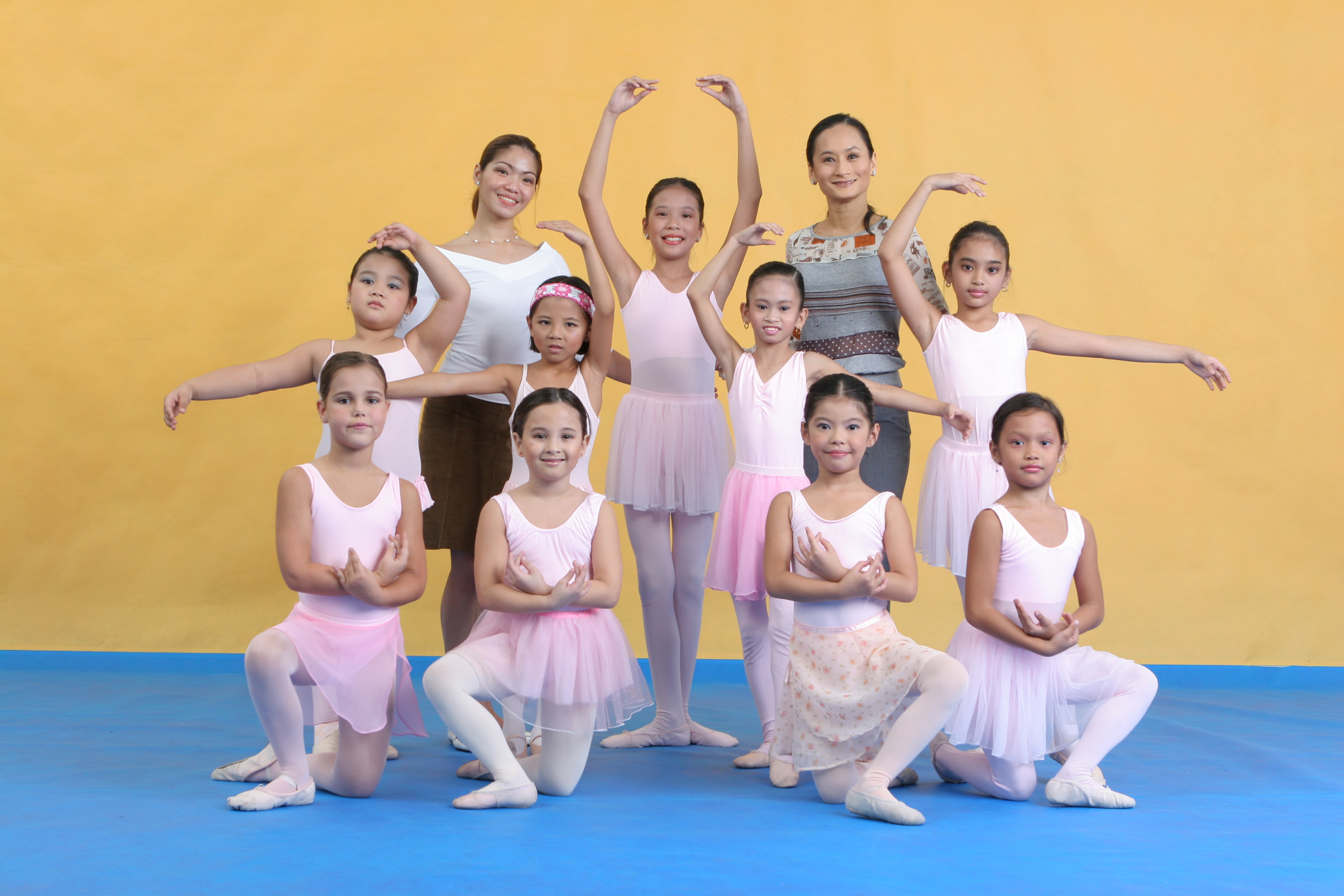 "As a young girl, Missy (front, second from left) attended two summer workshops with Lisa as her teacher, until she told her, ""Mama, ballet is not for me."" Photo by Ocs Alvarez"