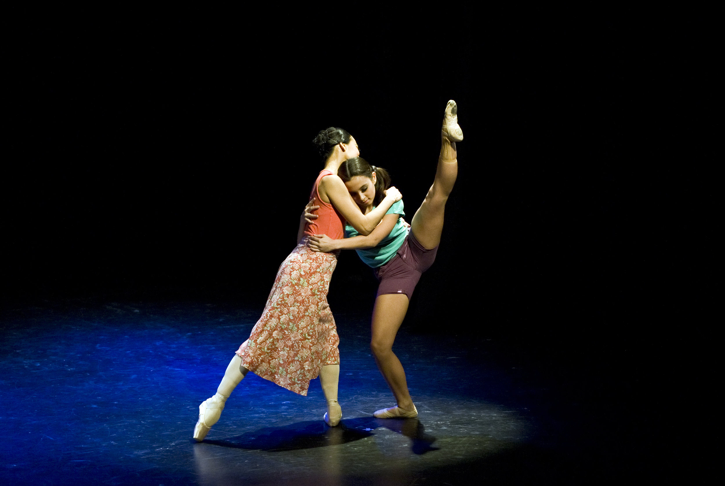 Lisa and Missy share a warm embrace in  Ina , a choreography of Gerardo Francisco, which they performed in 2011 as part of Ballet Manila's  East Meets West  tour in England and Ireland. Photo by Philip Taylor Photography