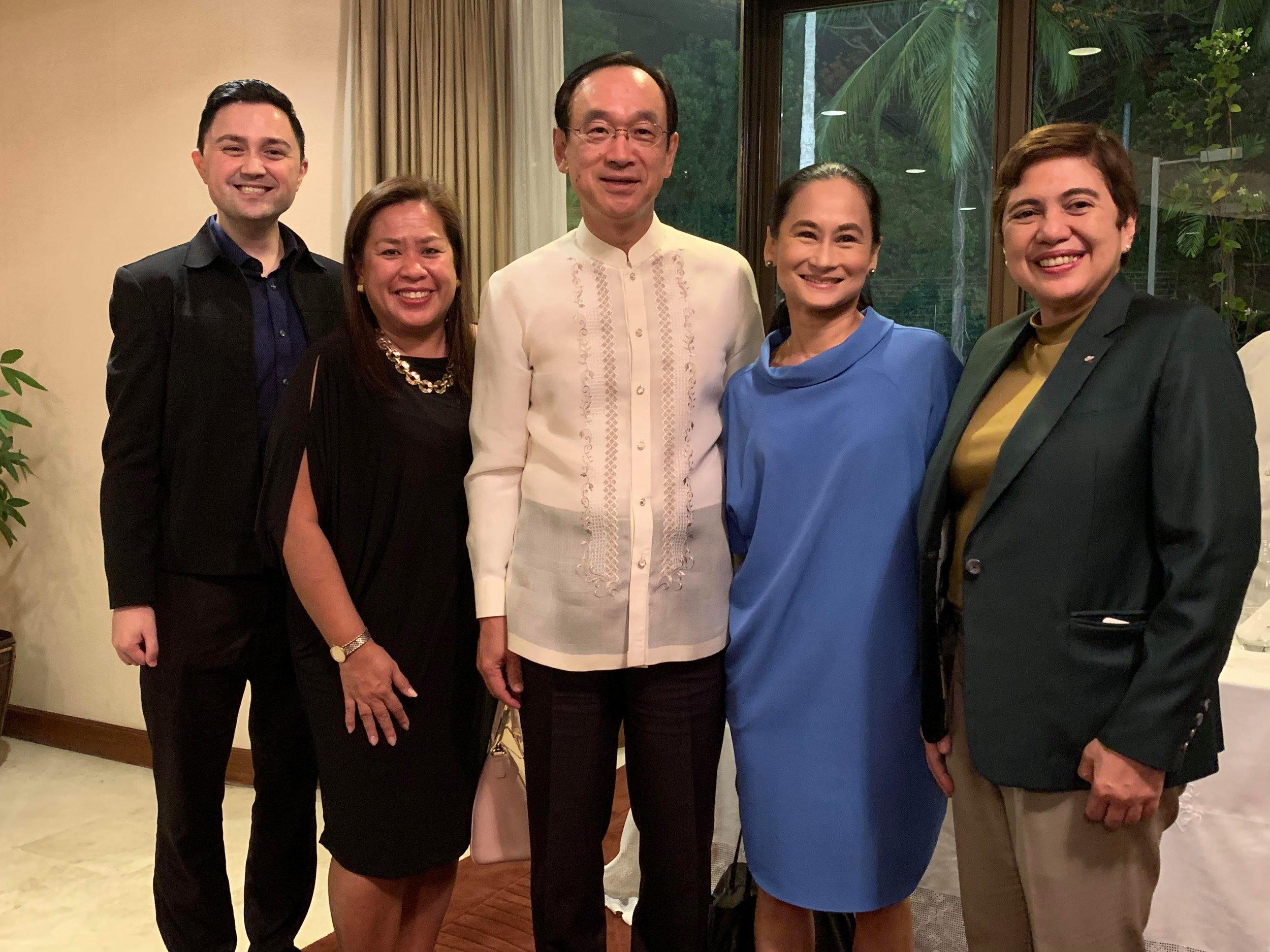 Ambassador Haneda with Ballet Manila's Lisa Macuja-Elizalde and representatives of EON (from left) – Adam Crayne, Angelica Pettersson and Angela Blardony Ureta. Photo by Mark Sumaylo