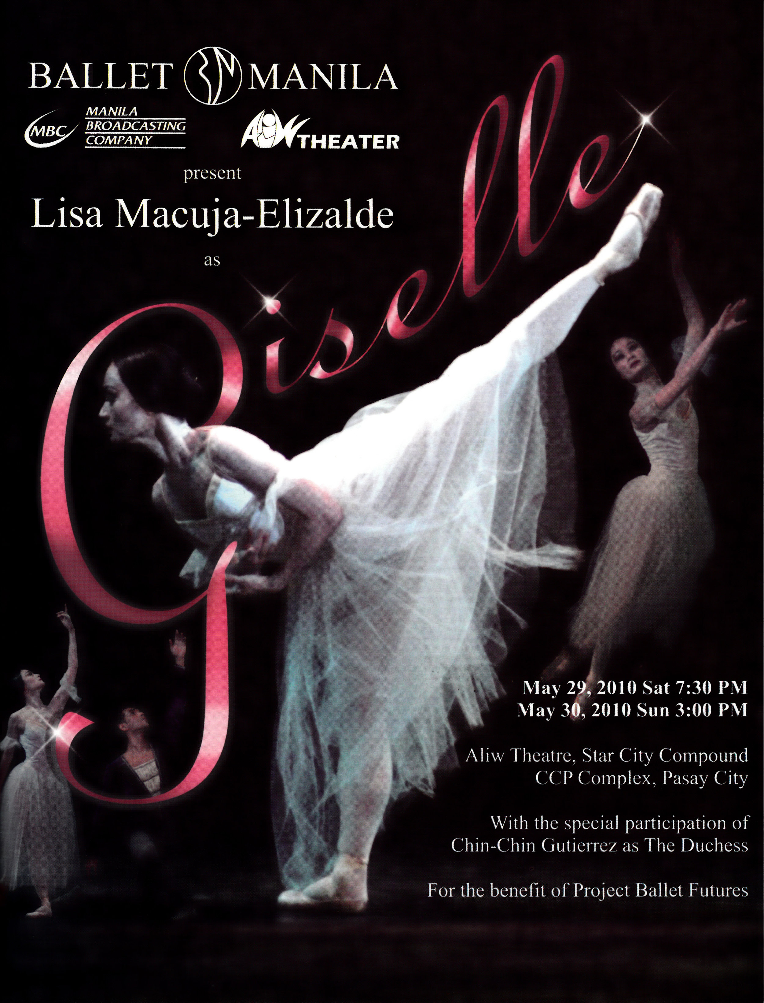 Cover of the Giselle souvenir program. From the Ballet Manila Archives collection