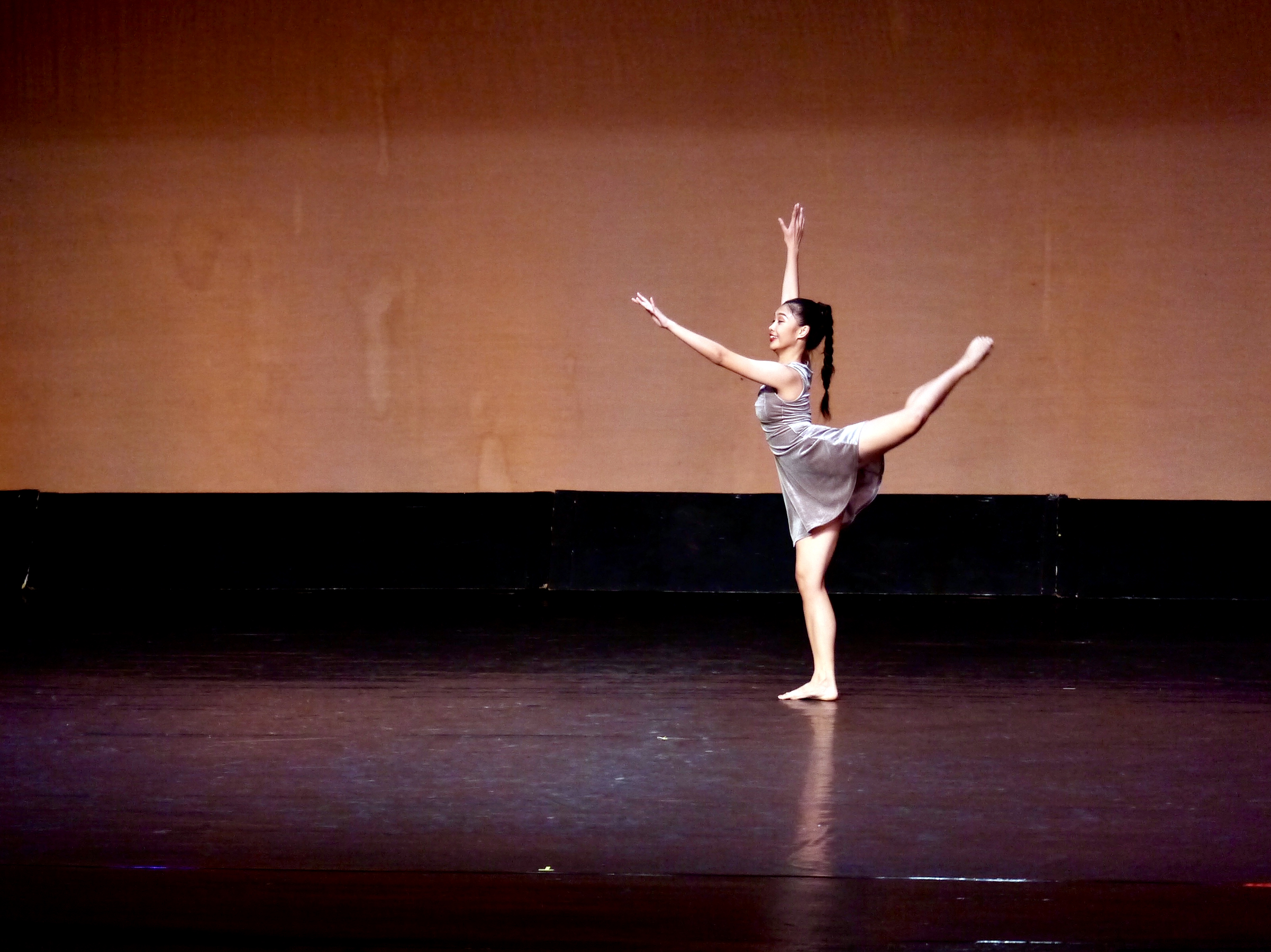 Performing her contemporary piece in the 2018 CCP Ballet Competition. Photo by Giselle P. Kasilag