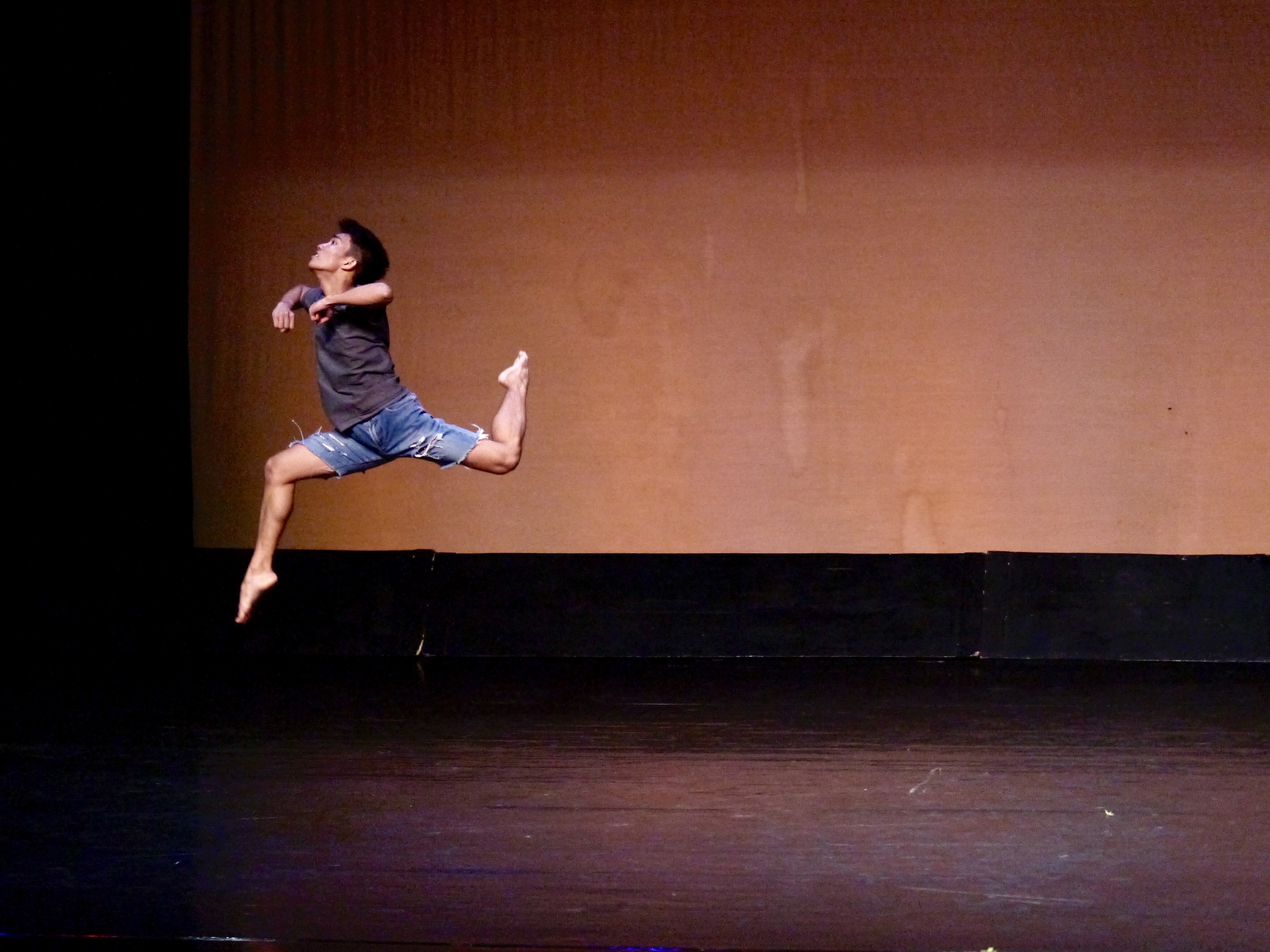 JC, seen here performing his contemporary piece at the CCP Ballet Competition, likes the feeling of being alone on stage with all eyes on him. Photo by Giselle P. Kasilag