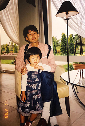 Growing up, Sayaka remembers her father always telling her to try her best in everything she does.