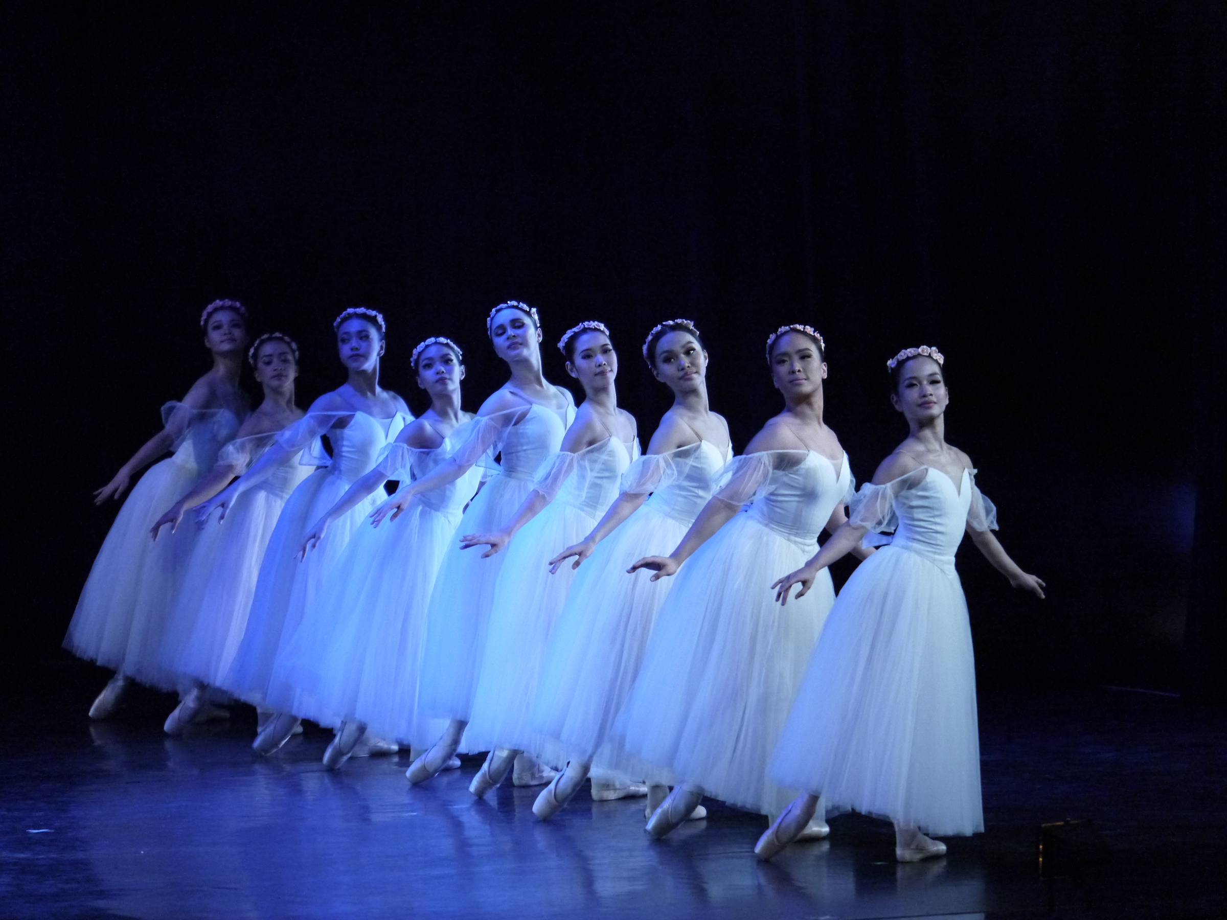 Fiona (third from right) performs in  Chopiniana , one of the featured pieces in Ballet Manila's 23rd season-ender,  Deux . Photo by Giselle P. Kasilag