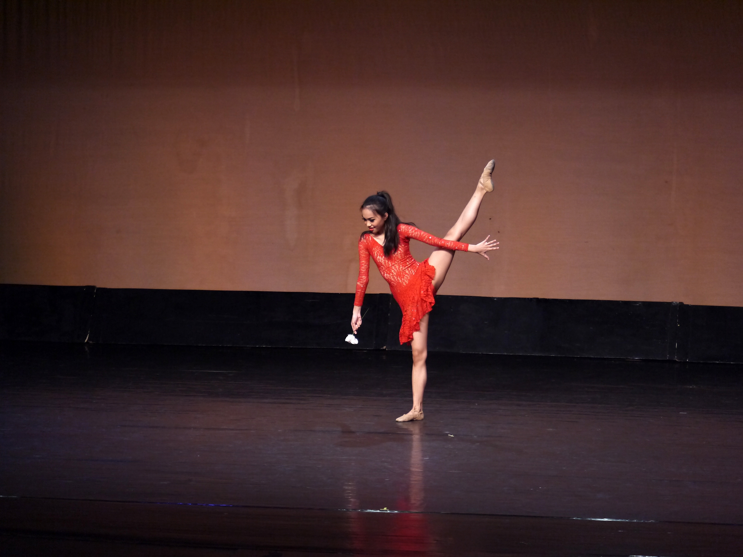 When she is onstage, Fiona – seen here doing her contemporary piece in the 2018 CCP Ballet Competition – forgets about everything else and focuses on the dancing. Photo by Giselle P. Kasilag