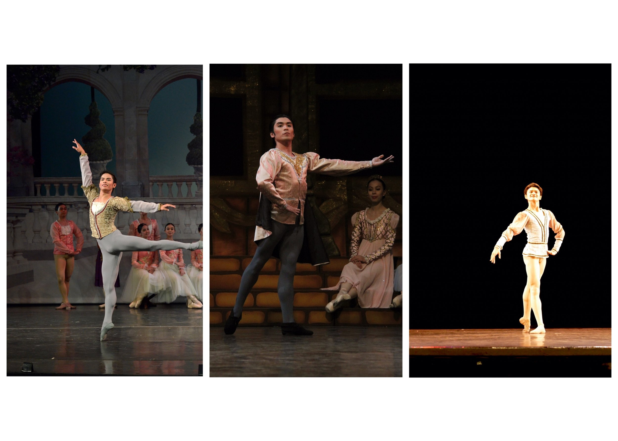The three Princes: principal dancers Elpidio Magat Jr. and Romeo Peralta Jr., and soloist Joshua Enciso. Photos by Ocs Alvarez and Giselle P. Kasilag