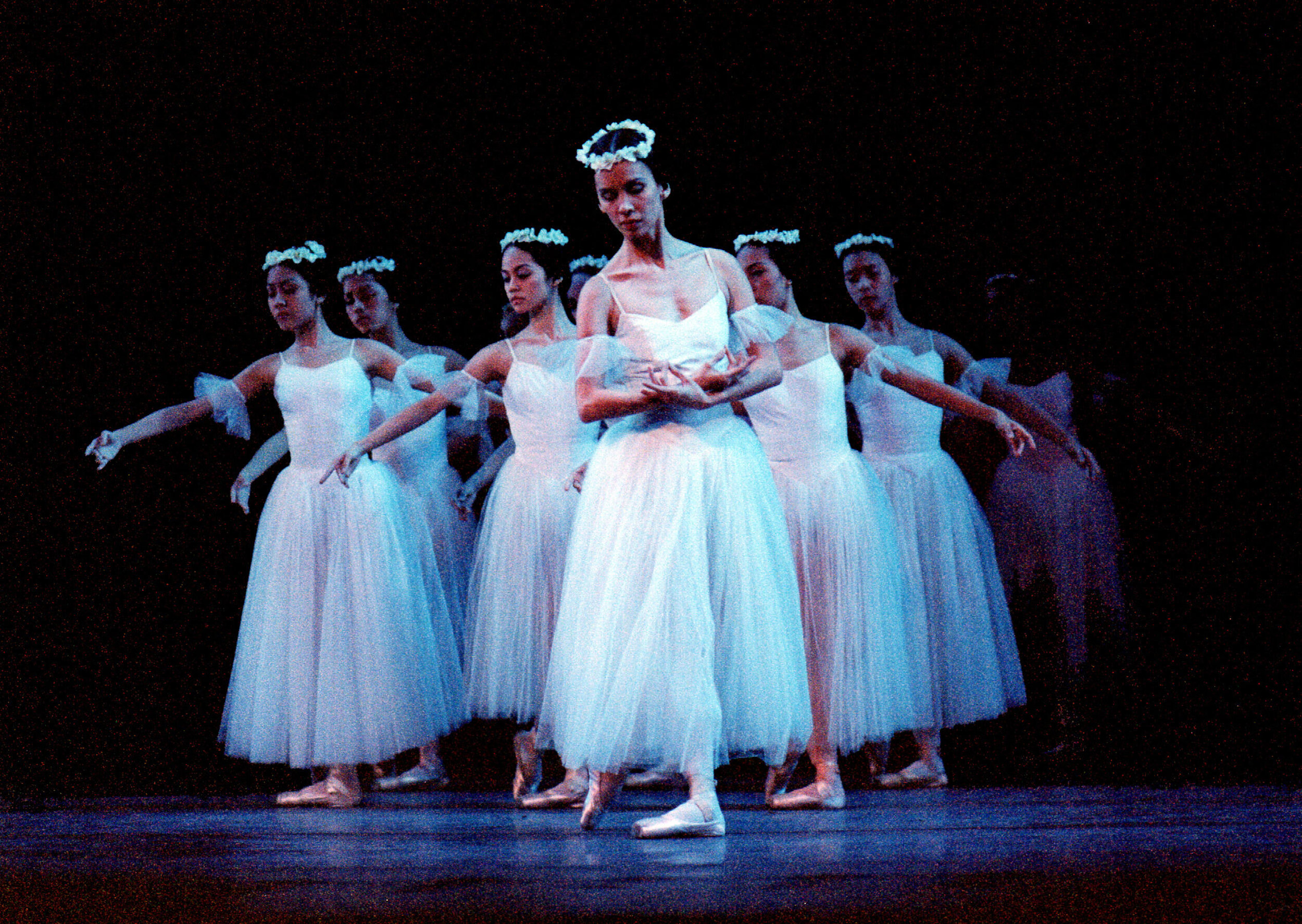 "Melanie Motus led the wilis in the 2002 production of ""Giselle"""