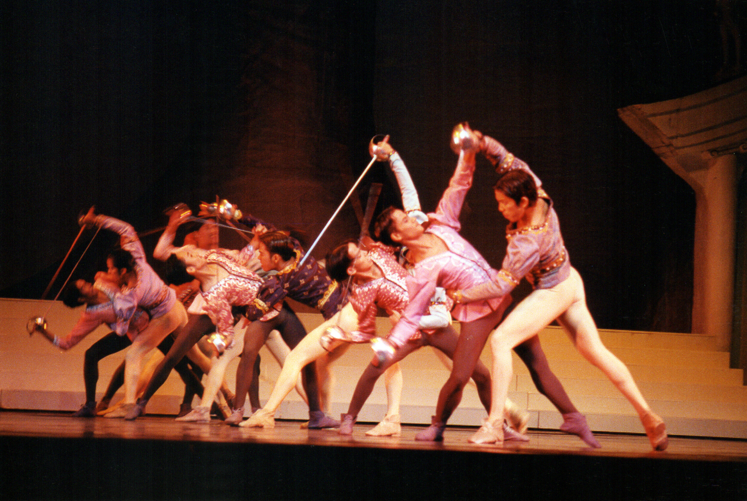An action-packed scene in  Romeo and Juliet , staged at the Cultural Center of the Philippines. Photo by Ocs Alvarez from the Ballet Manila Archives collection