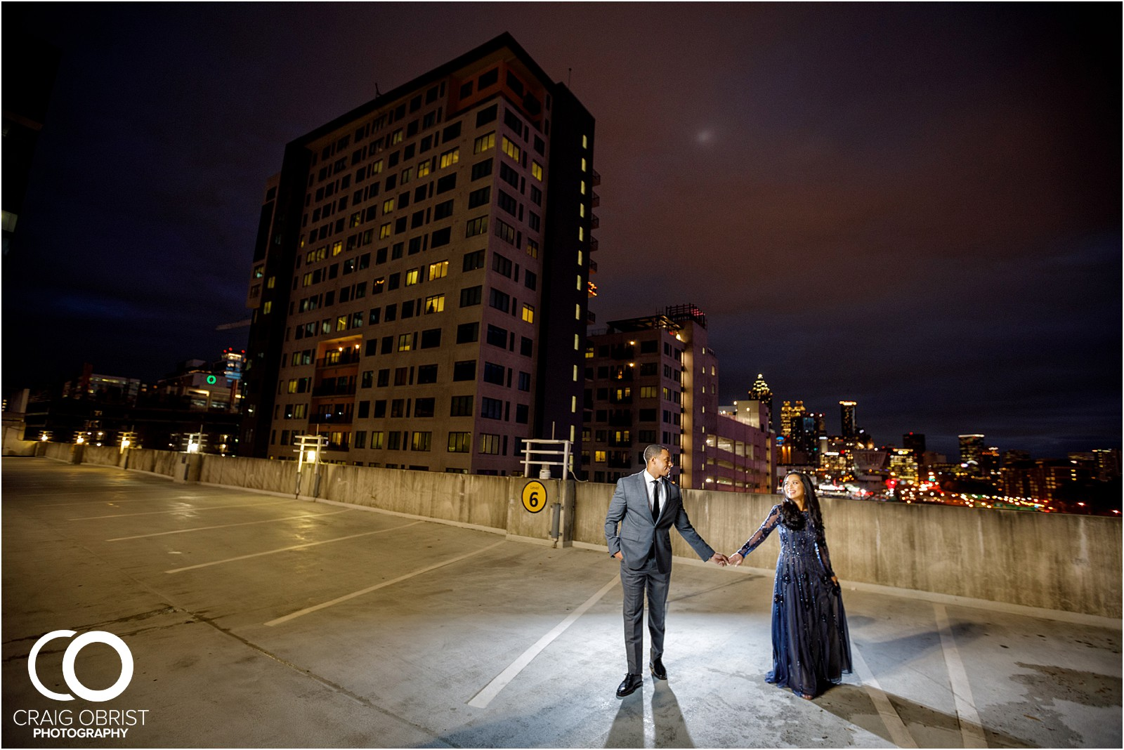 Downtown Duluth Atlanta Skyline Engagement Portraits_0020.jpg
