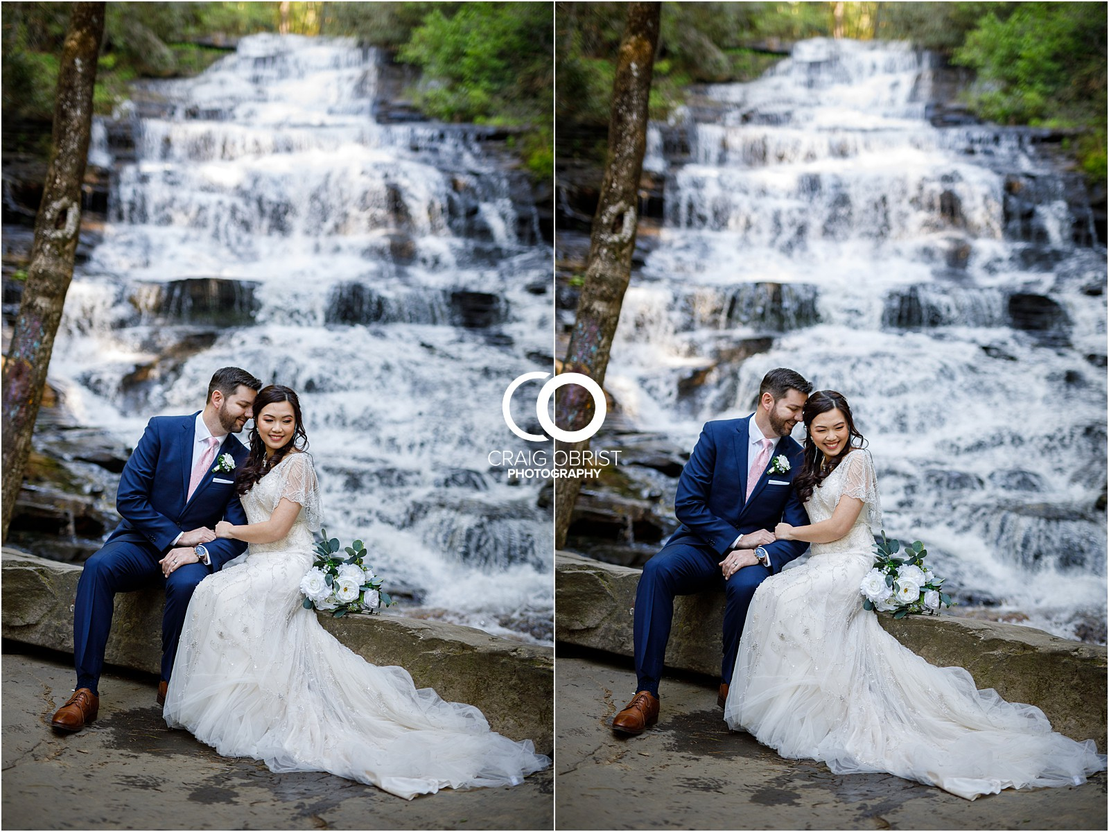 Waterfall Wedding Portraits Elopement Georgia_0003.jpg