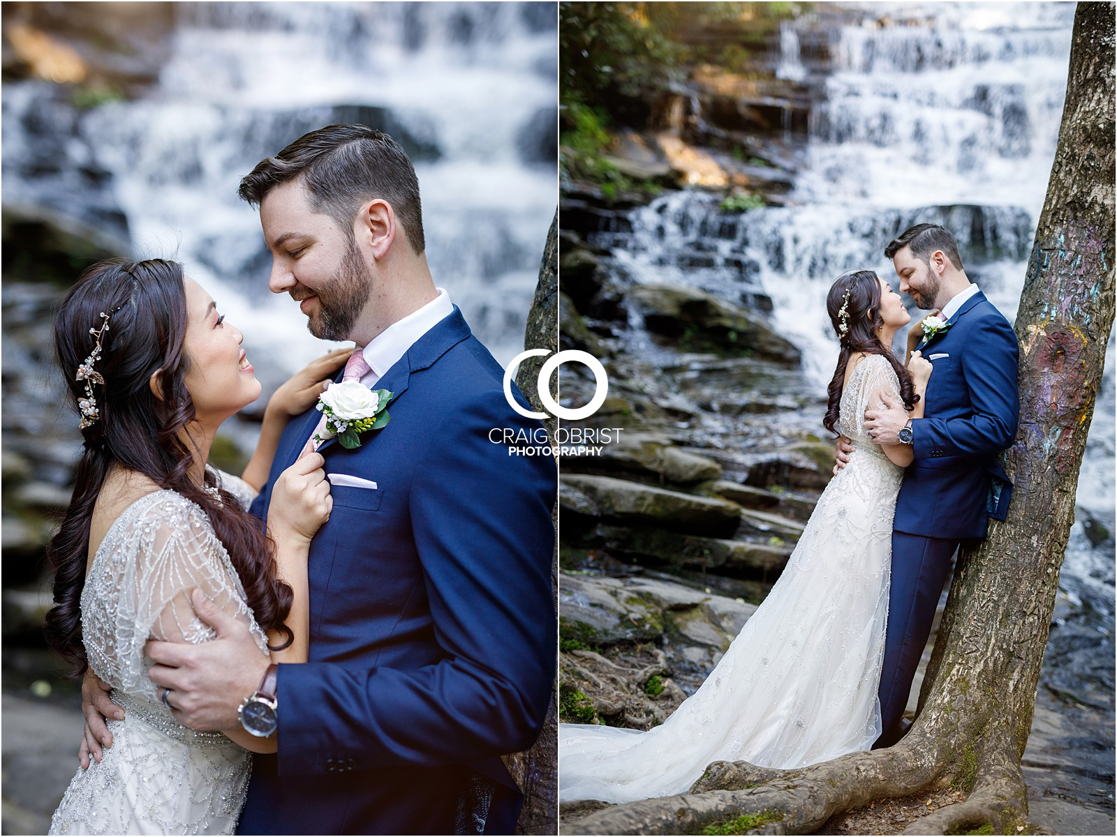 Waterfall Wedding Portraits Elopement Georgia_0012.jpg