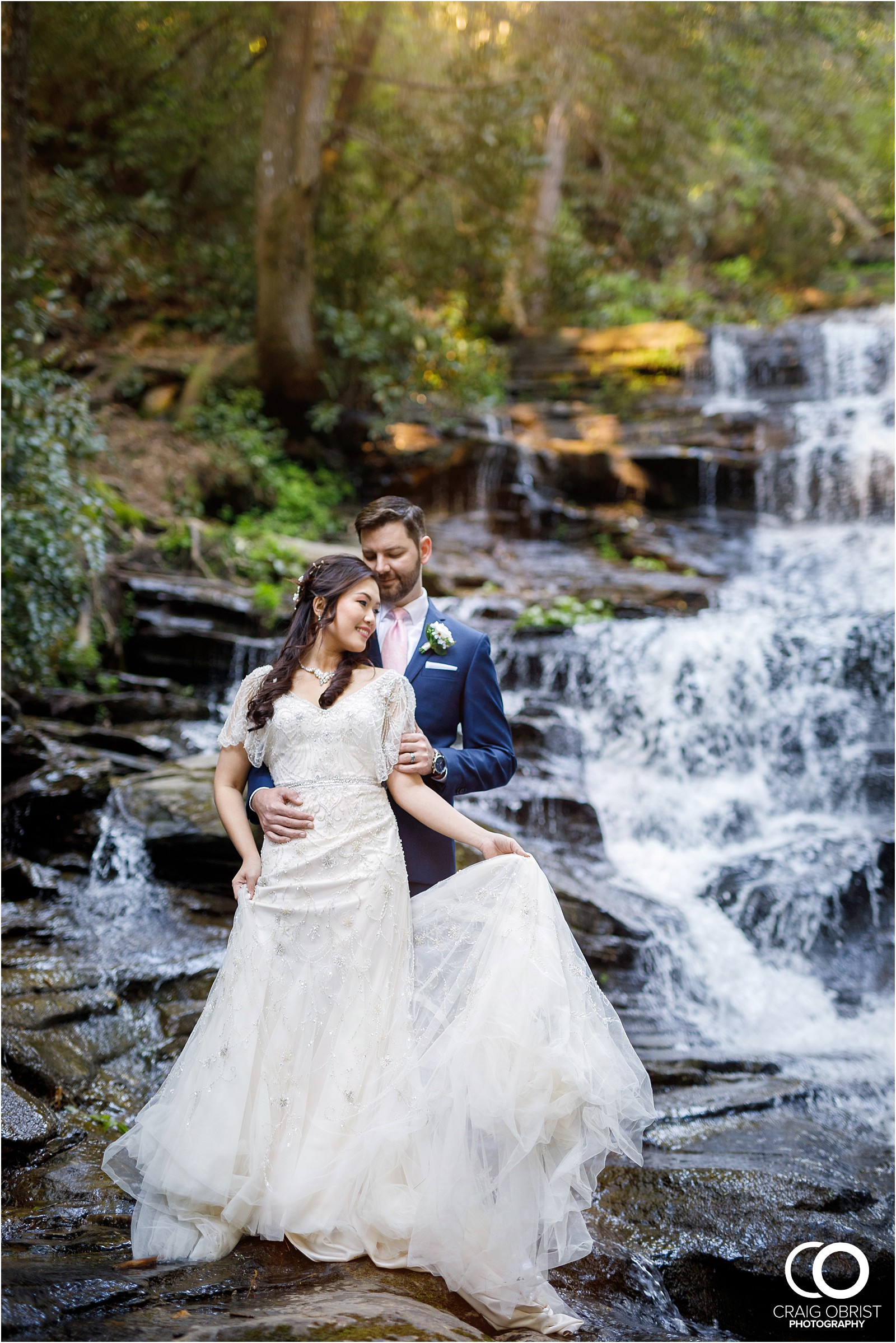 Waterfall Wedding Portraits Elopement Georgia_0015.jpg