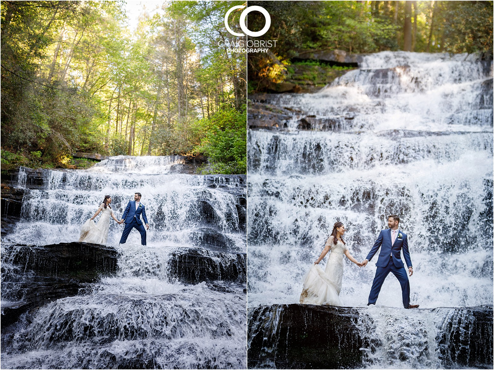 Waterfall Wedding Portraits Elopement Georgia_0020.jpg