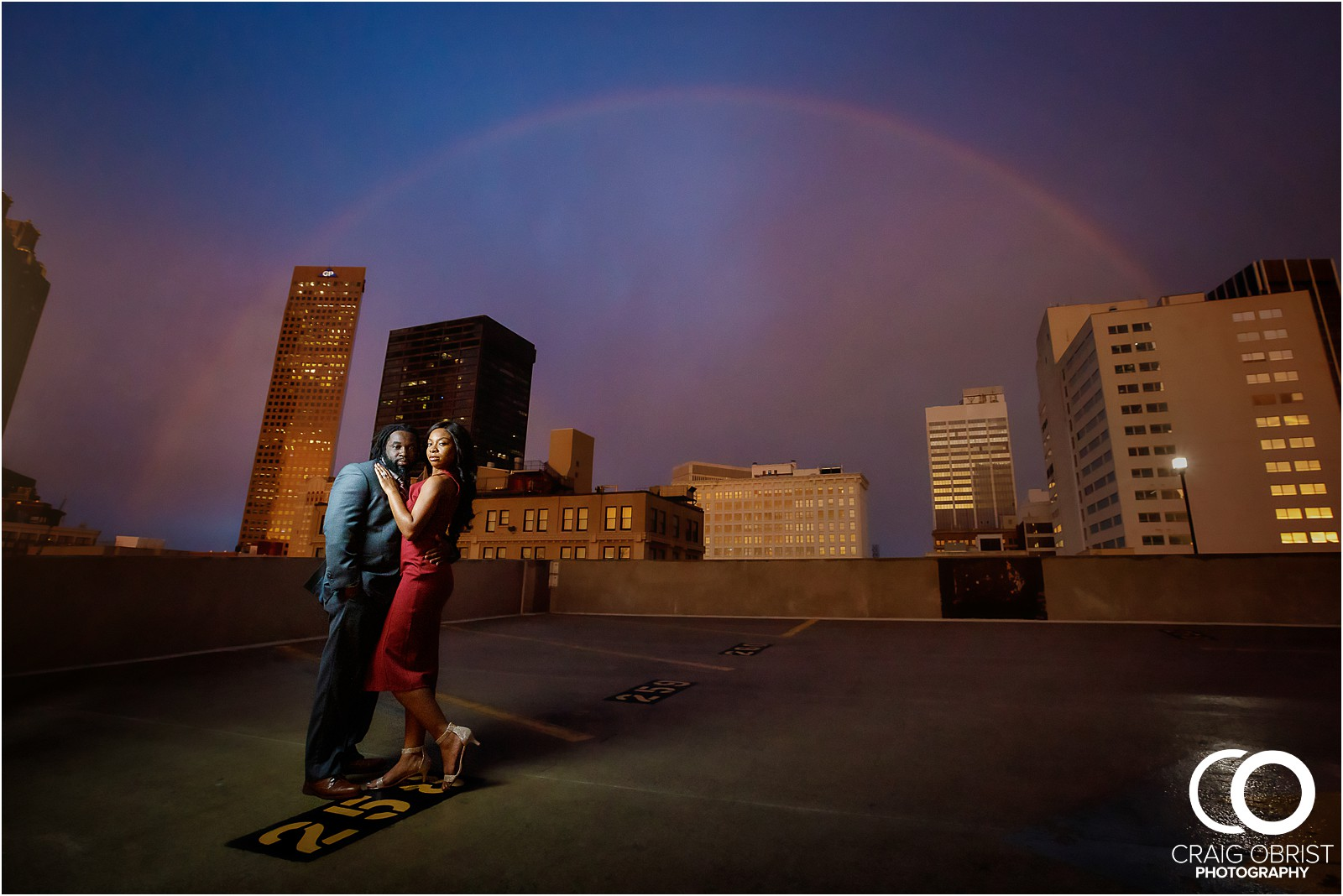 Ponce City Market Atlanta Skyline Sunset Portraits Wedding_0023.jpg