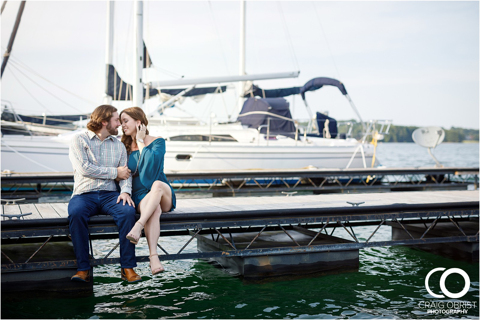 Lake Lanier Islands Engagement Wedding Portraits Dock_0005.jpg