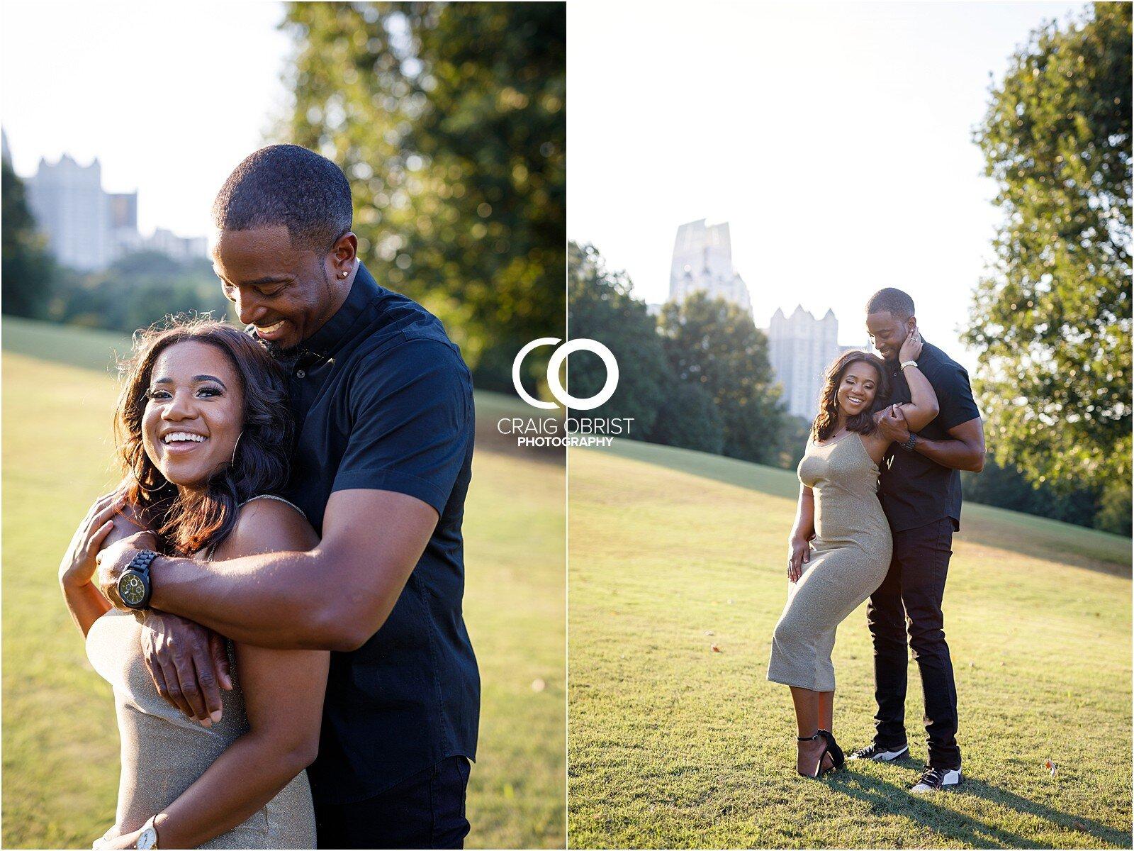 Piedmont Park Merecedes Benz Stadium Atlanta Skyline Enagagement Portraits_0015.jpg
