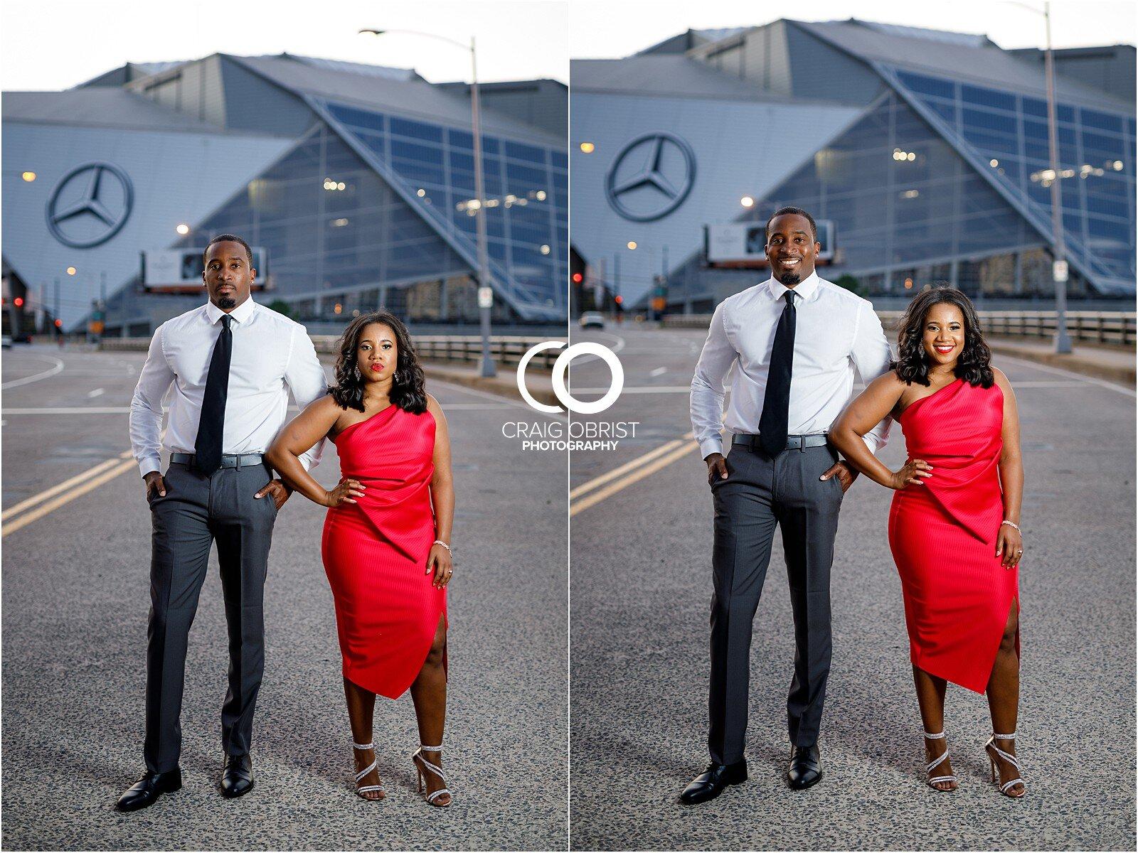 Piedmont Park Merecedes Benz Stadium Atlanta Skyline Enagagement Portraits_0024.jpg