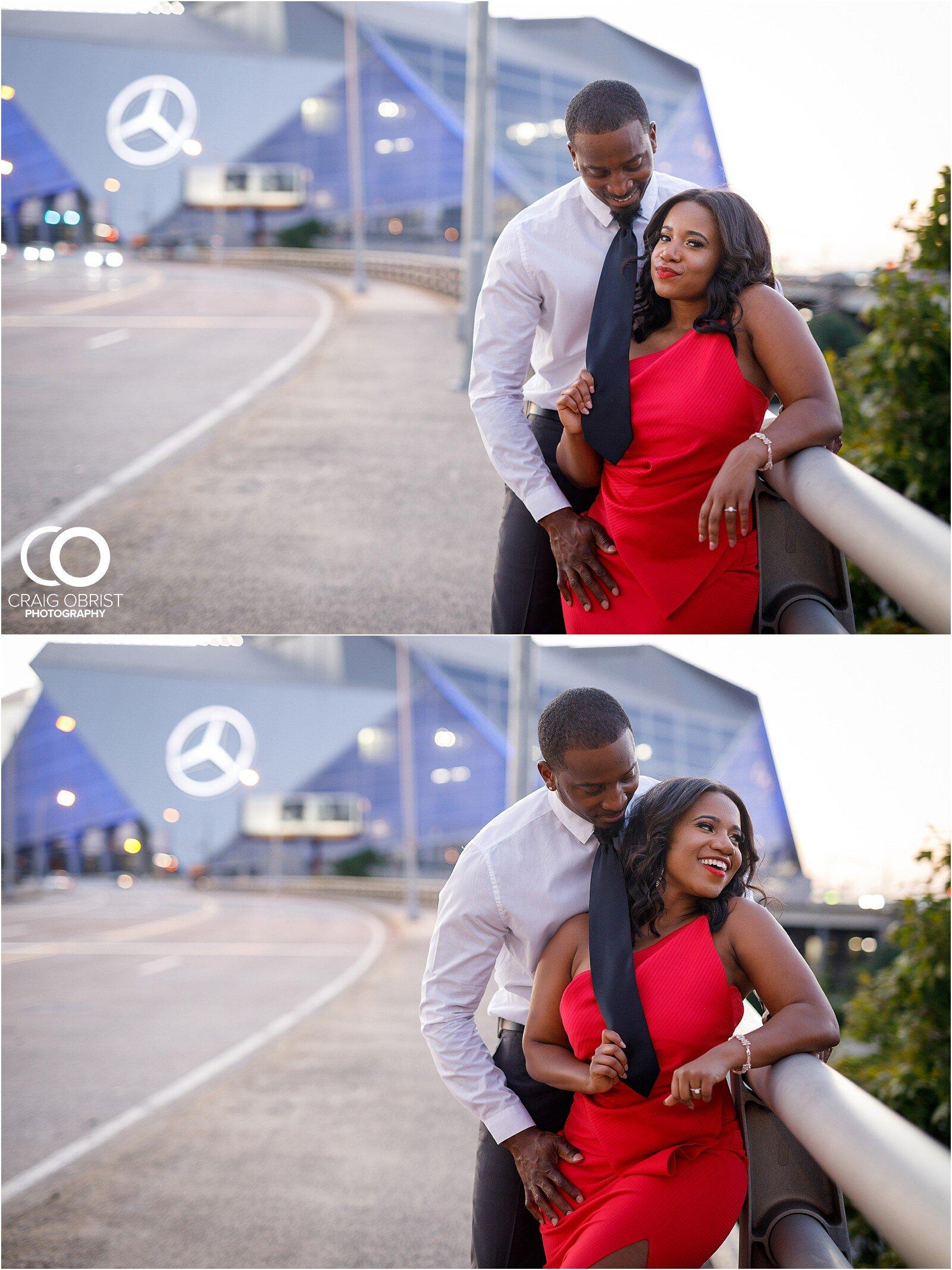 Piedmont Park Merecedes Benz Stadium Atlanta Skyline Enagagement Portraits_0027.jpg