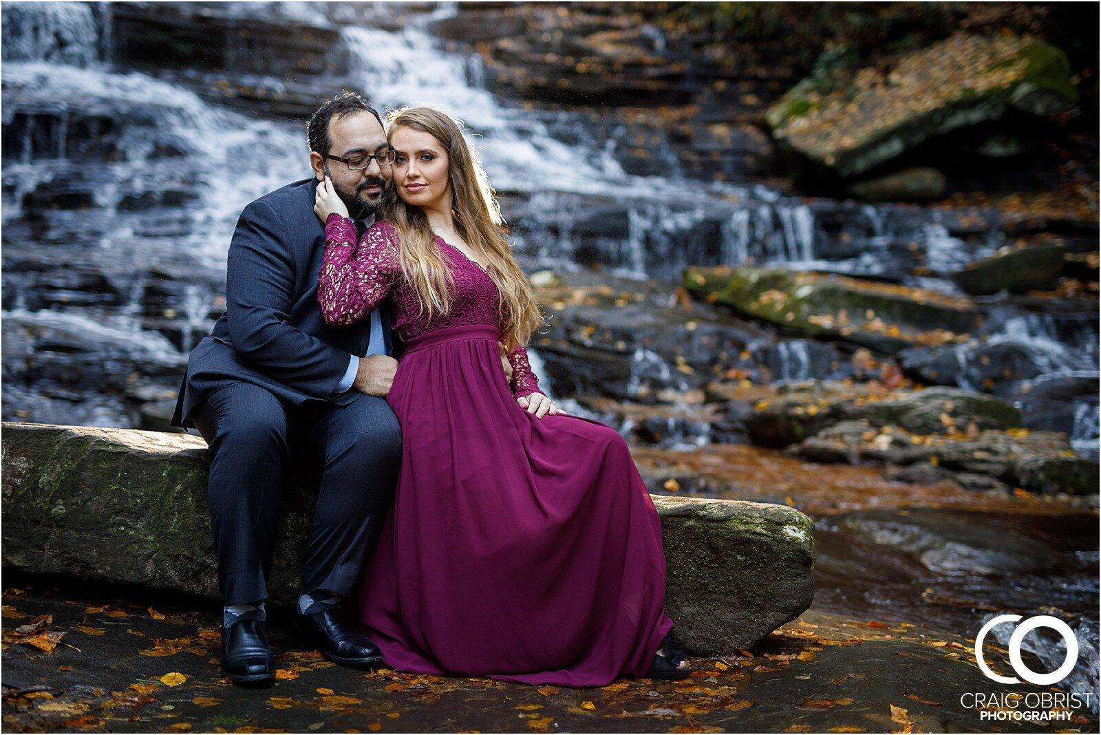 Waterfall North Georgia Engagement Portraits Wedding_0019.jpg