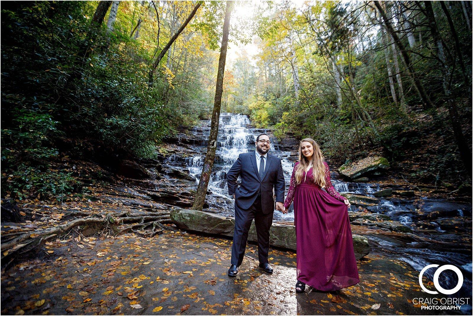 Waterfall North Georgia Engagement Portraits Wedding_0022.jpg