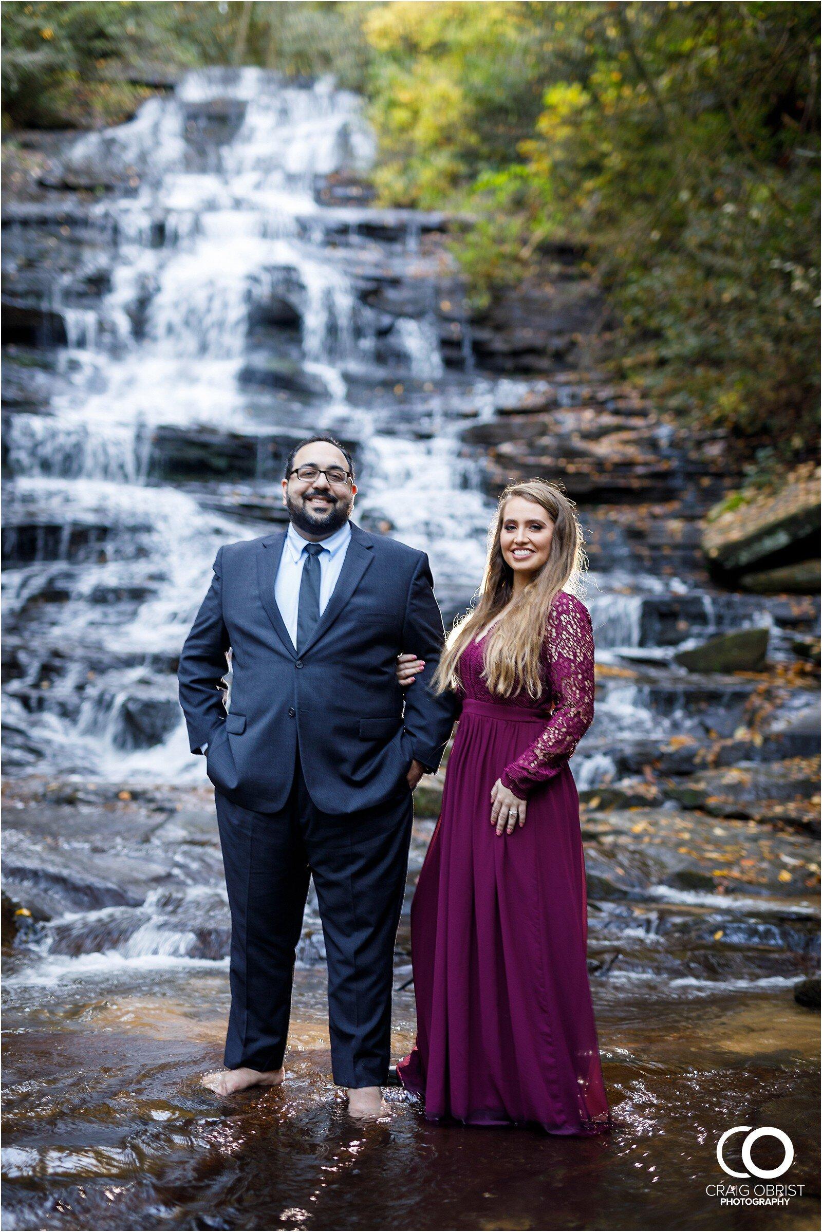 Waterfall North Georgia Engagement Portraits Wedding_0023.jpg