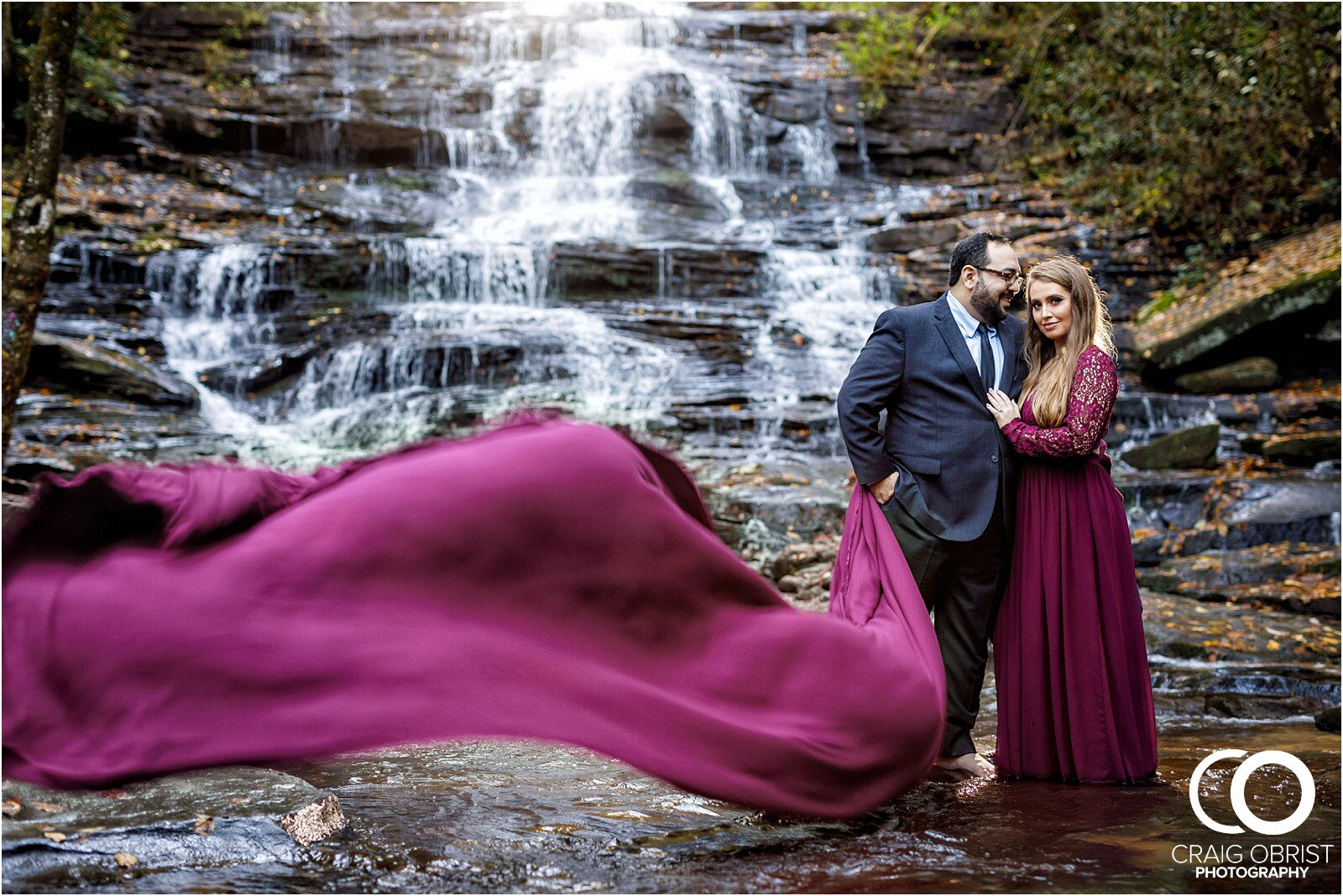 Waterfall North Georgia Engagement Portraits Wedding_0024.jpg