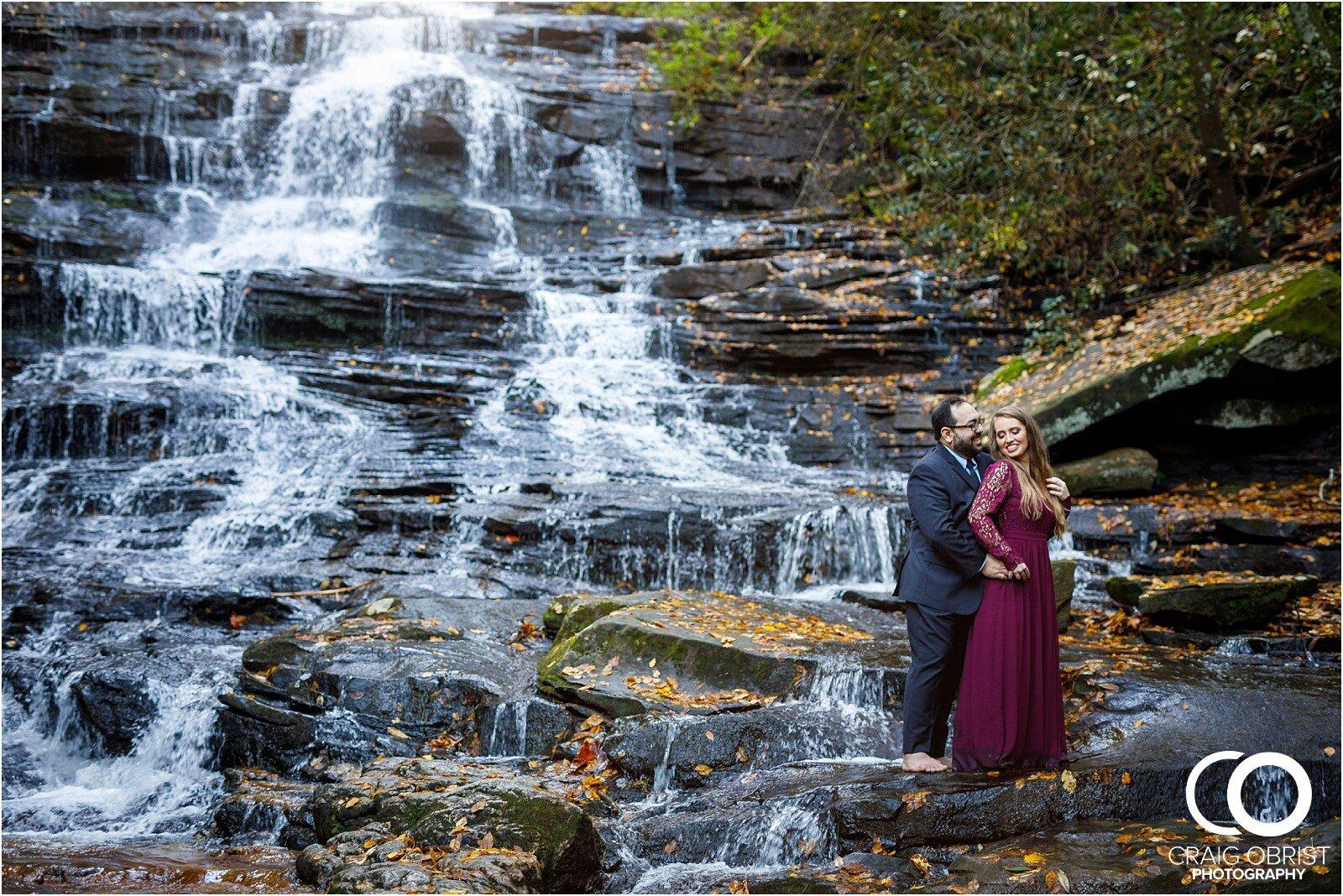 Waterfall North Georgia Engagement Portraits Wedding_0025.jpg