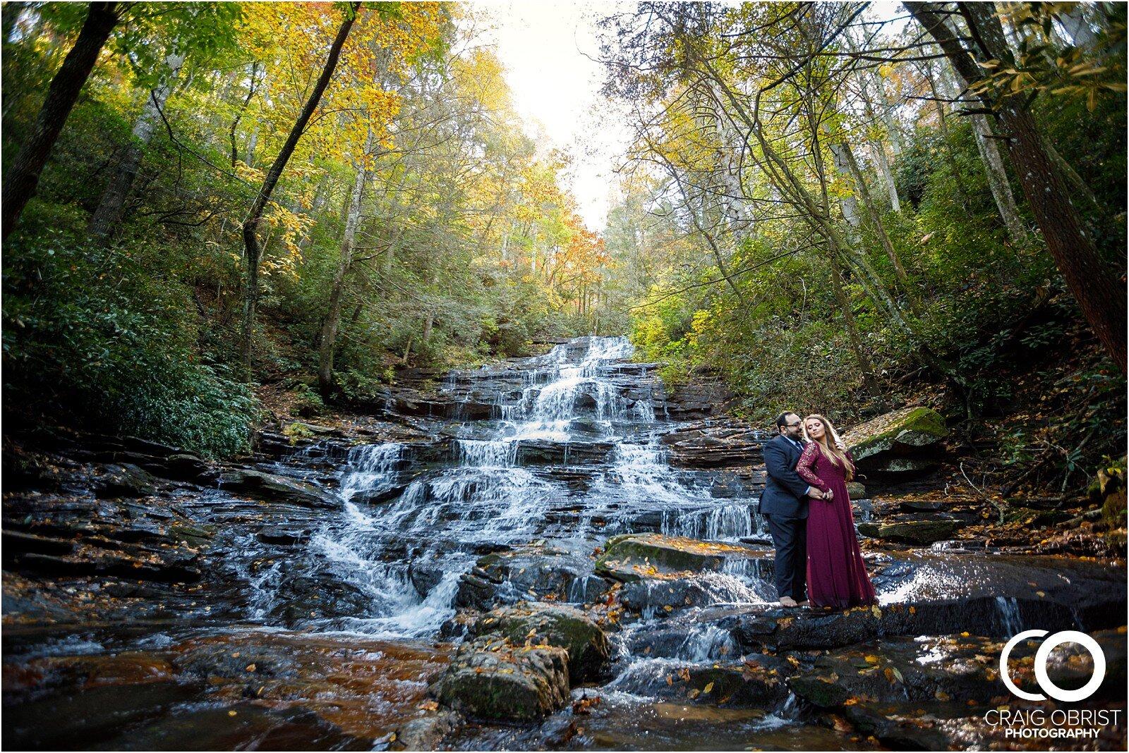 Waterfall North Georgia Engagement Portraits Wedding_0027.jpg