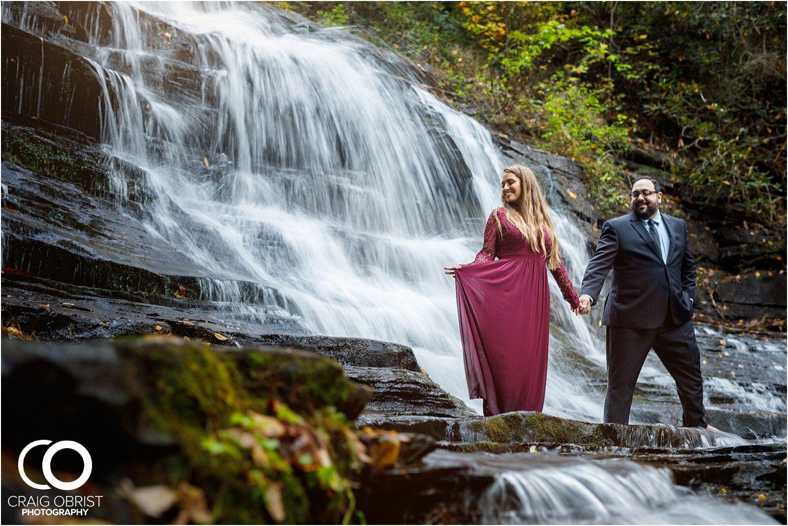 Waterfall North Georgia Engagement Portraits Wedding_0031.jpg