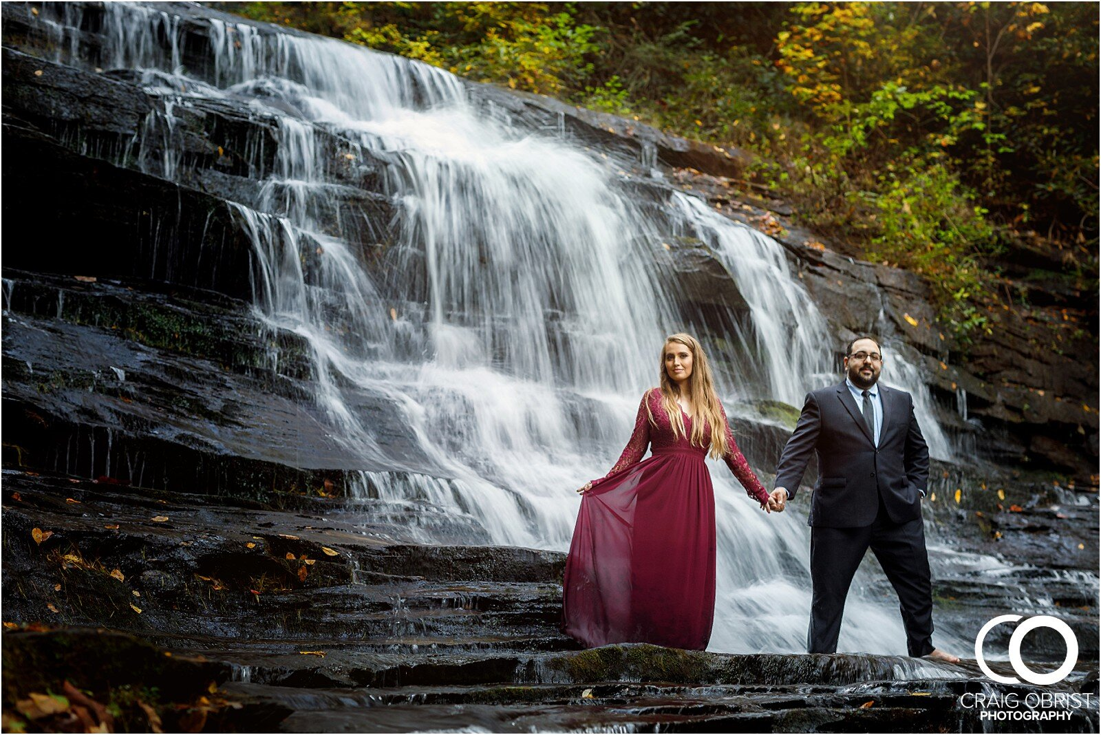 Waterfall North Georgia Engagement Portraits Wedding_0032.jpg