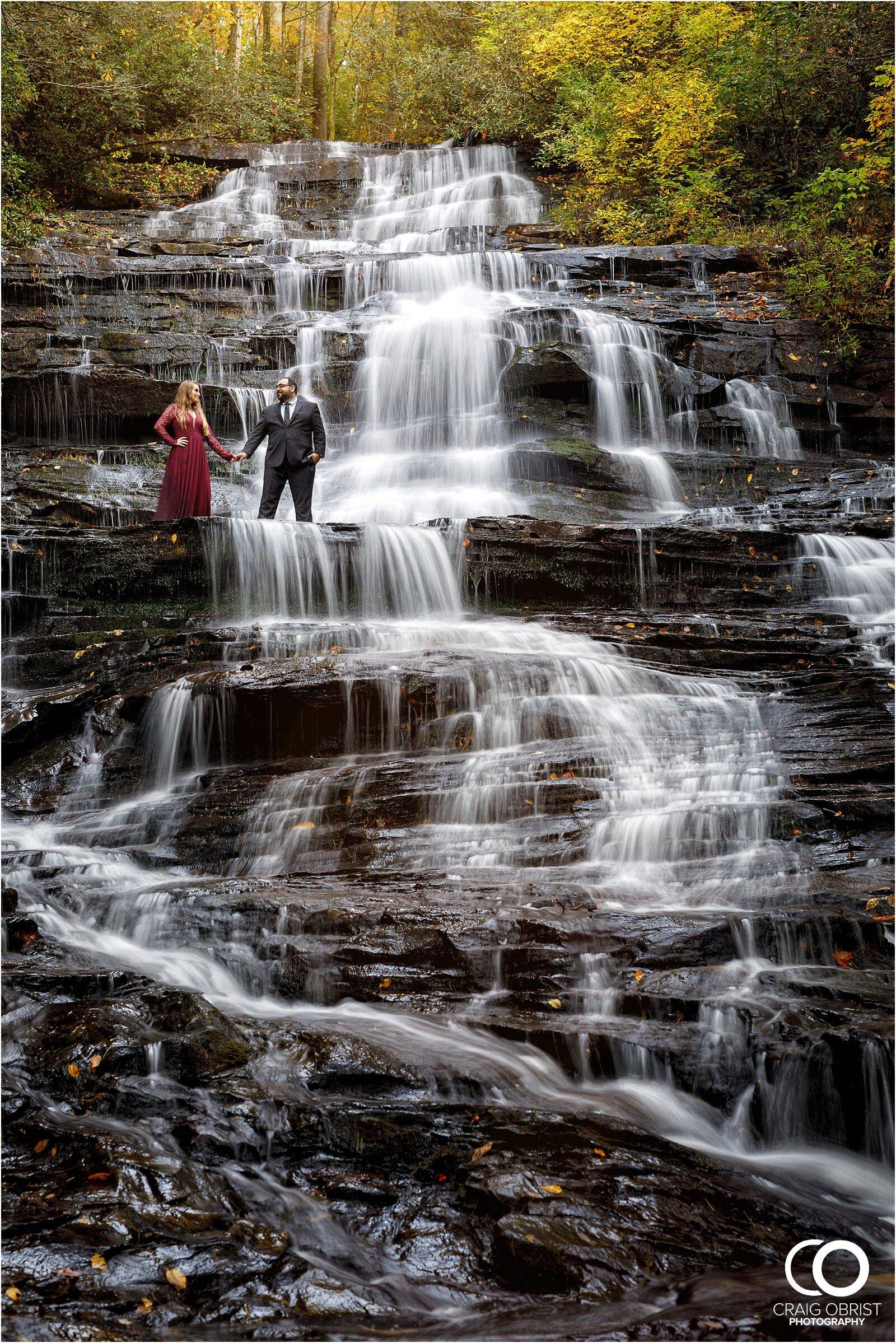 Waterfall North Georgia Engagement Portraits Wedding_0034.jpg
