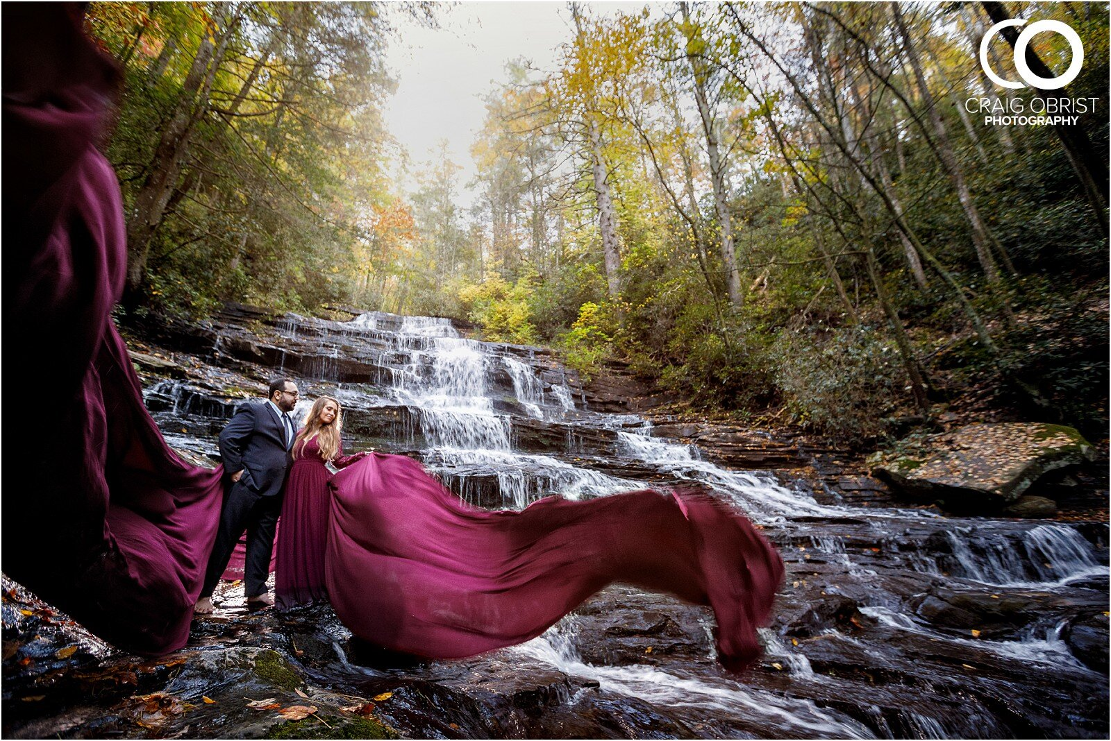 Waterfall North Georgia Engagement Portraits Wedding_0029.jpg