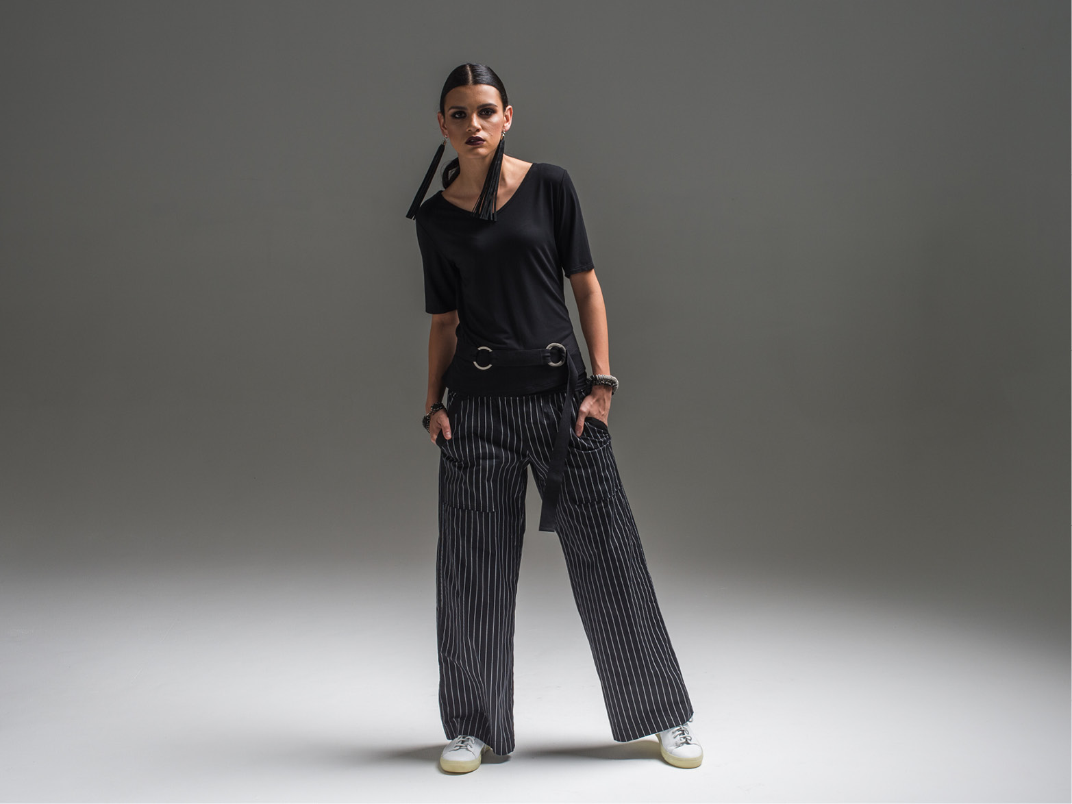 Viola top, Helen pant + Circle belt