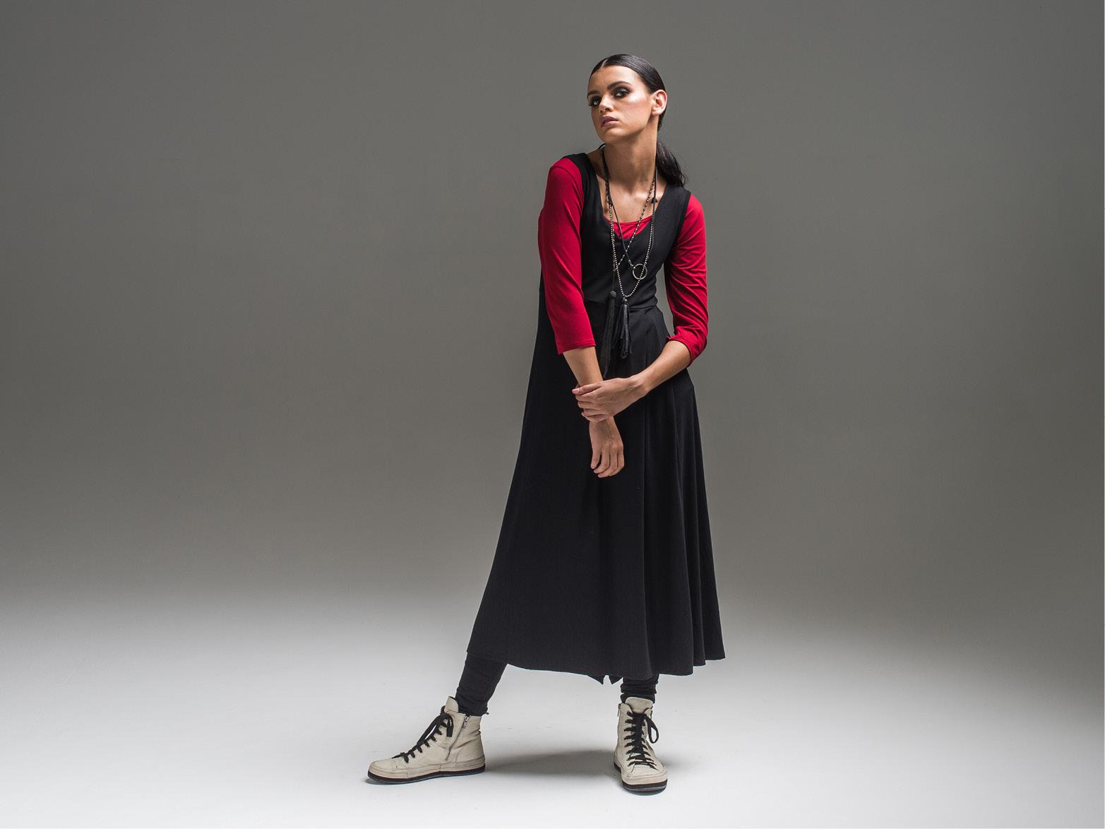 Yvette 3/4 top, Lanky legs + Lark dress