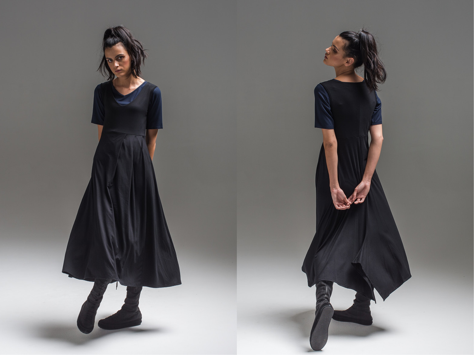 L+R: Viola top + Lark dress
