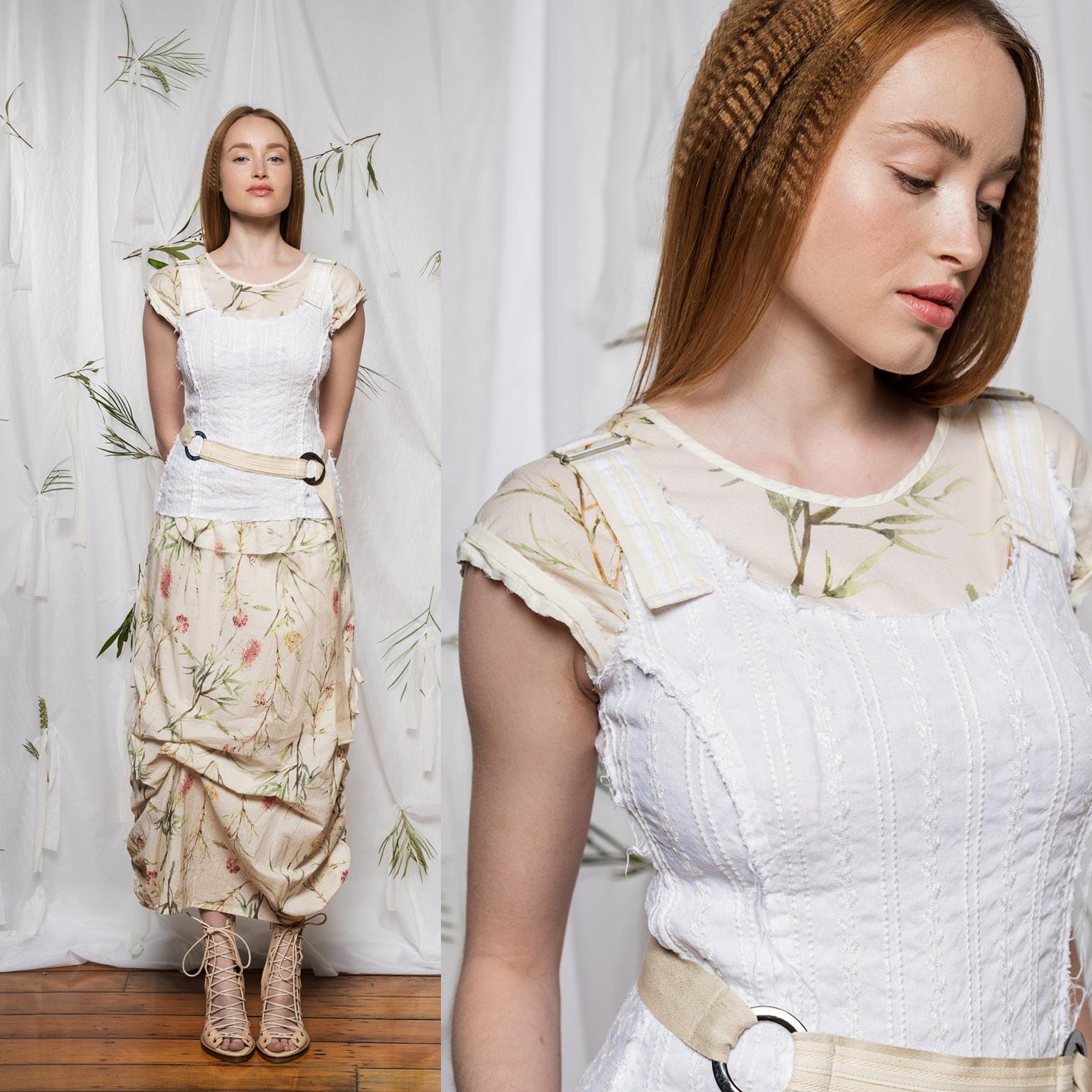 Sylvan Top, Moonlight Top, Marmalade Skirt & Linen Belt