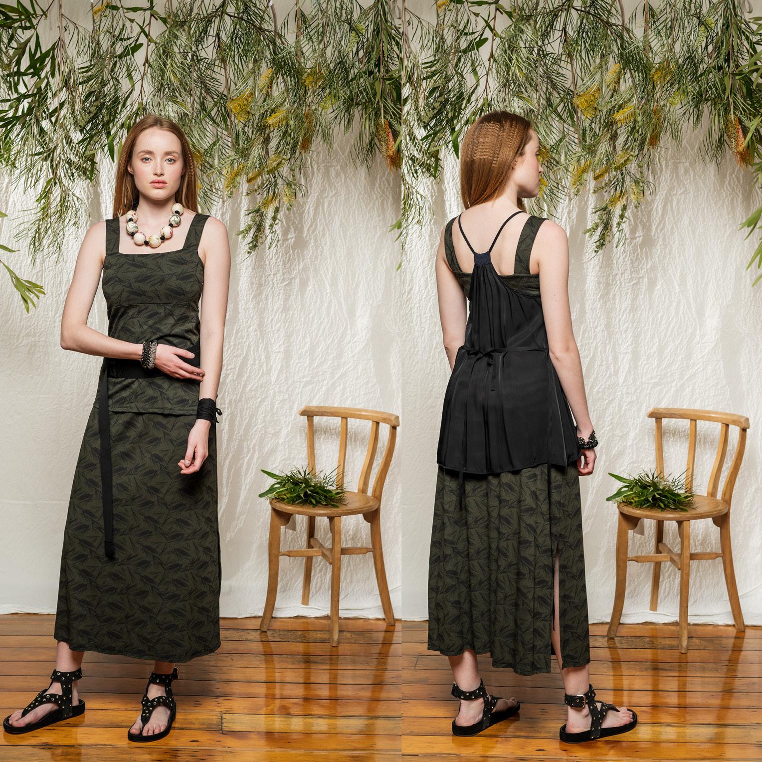 LEFT: Eternal Top & Emma Skirt  RIGHT: Mirage Top, Eternal Top & Emma Skirt