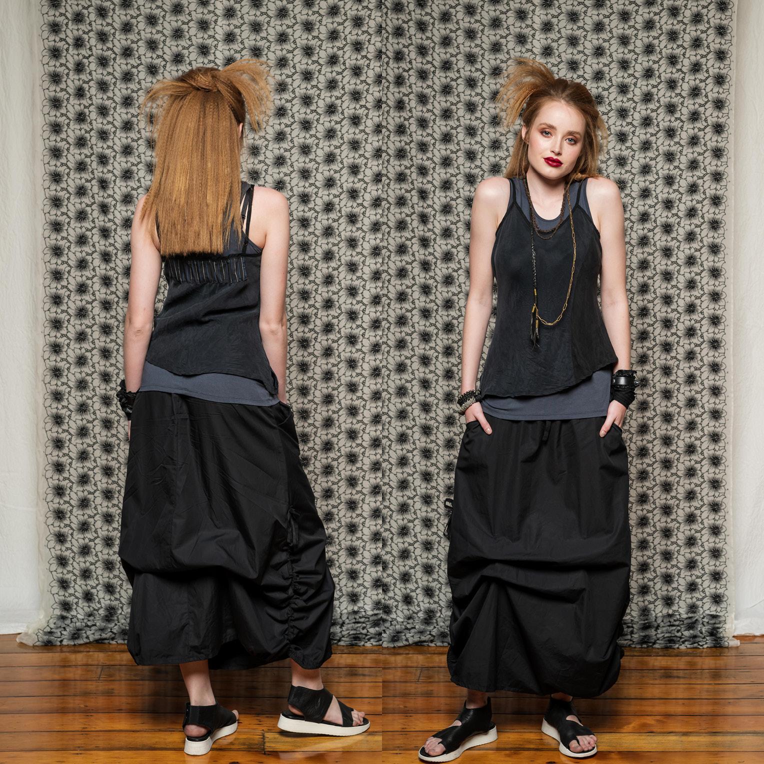 Obsidian Top, Esker Top & Marmalade Skirt