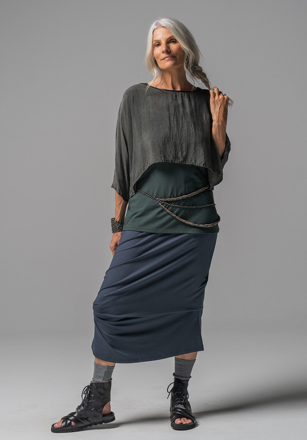 Archive top, Greta singlet + Thea skirt